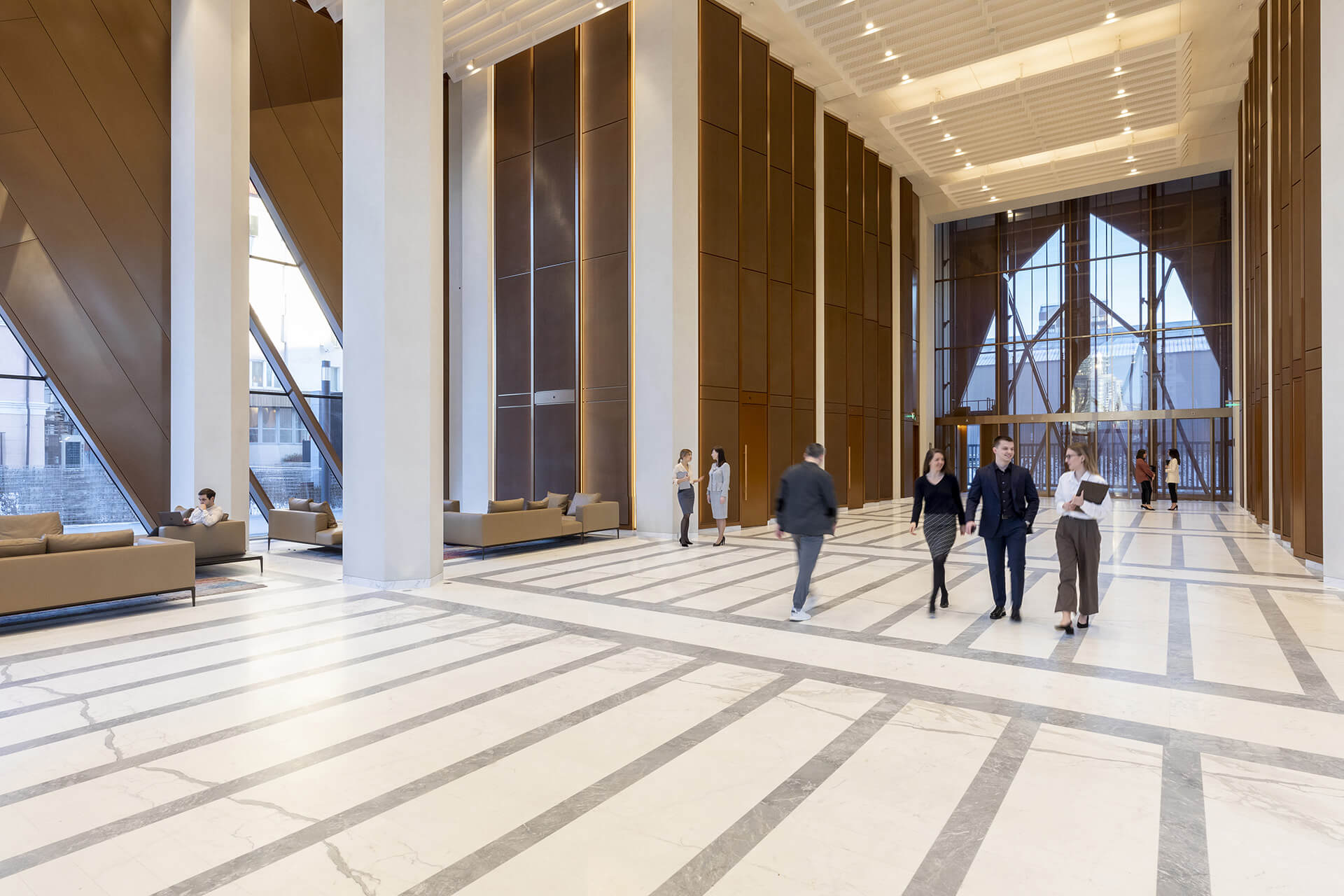 Entrance lobby | RCC Headquarters by Foster + Partners | STIRworld