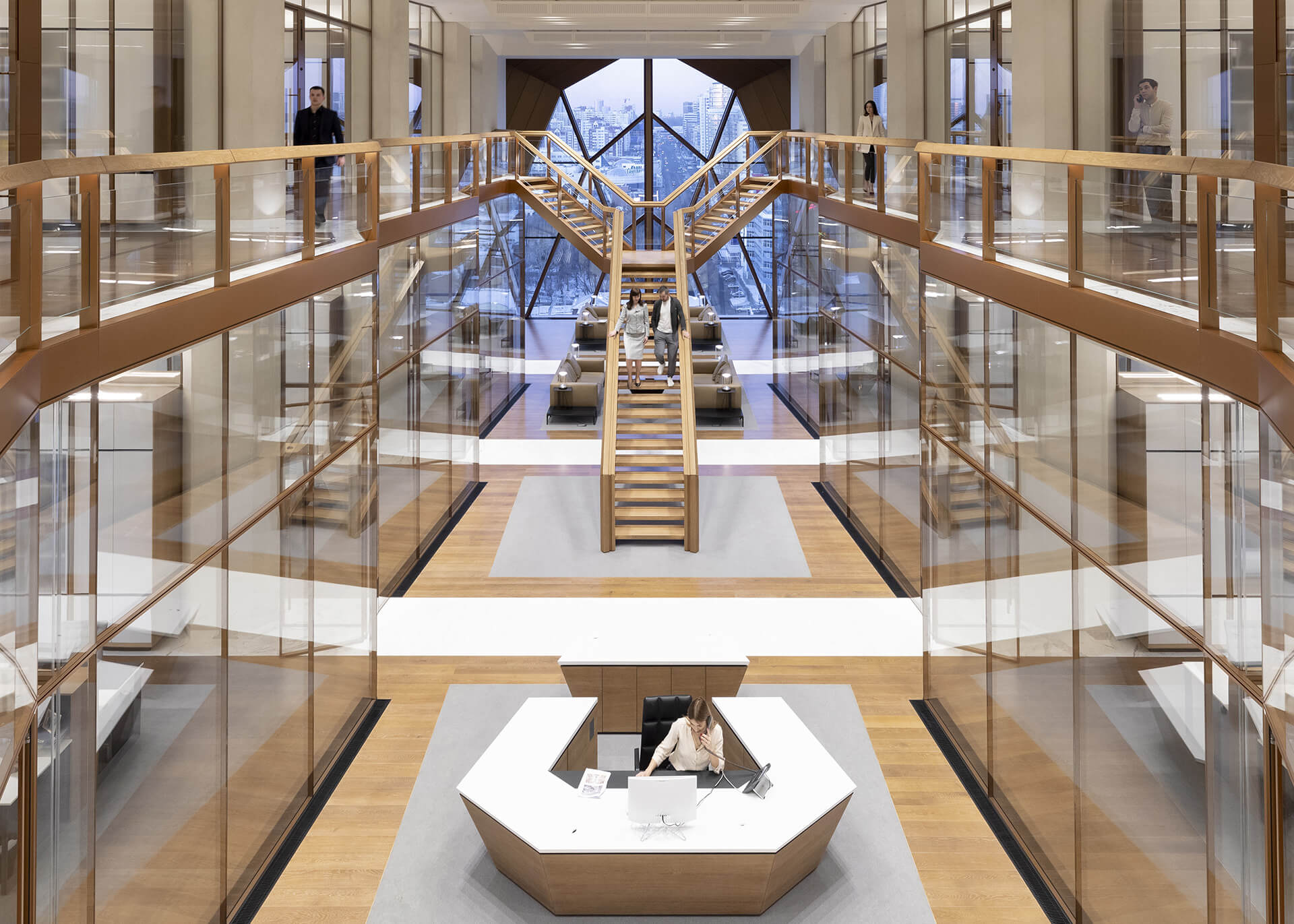 Double height hallway | RCC Headquarters by Foster + Partners | STIRworld