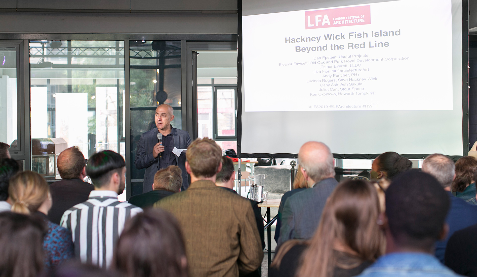 Sustainability consultant Dan Epstein chaired the discussion| Hackney Wick and Fish Island: Beyond the Red Line| London| STIR