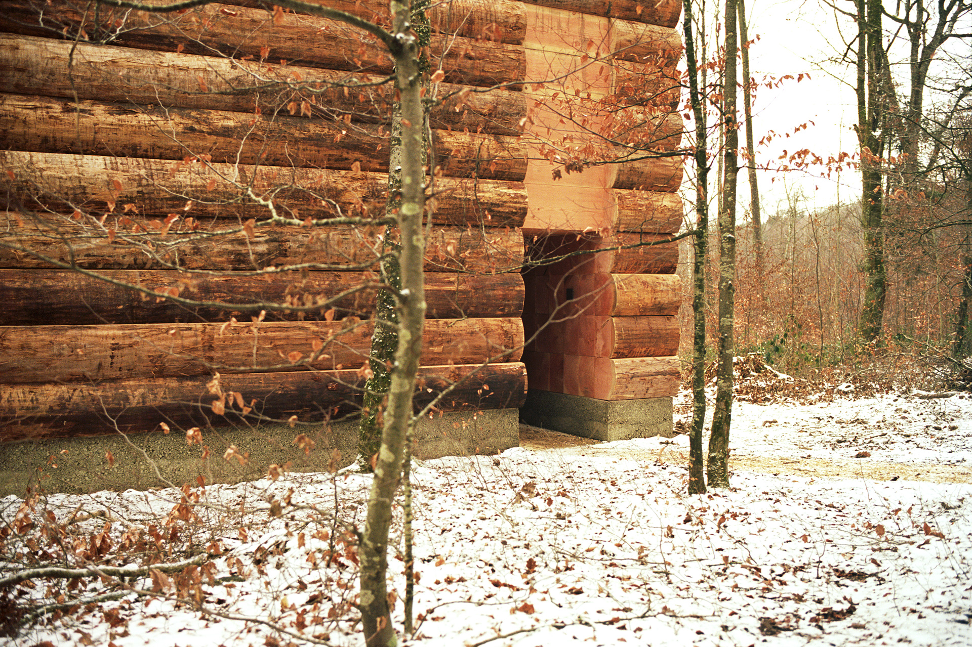 Wooden Chapel has been created using fir logs | Wooden Chapel | John Pawson | STIR