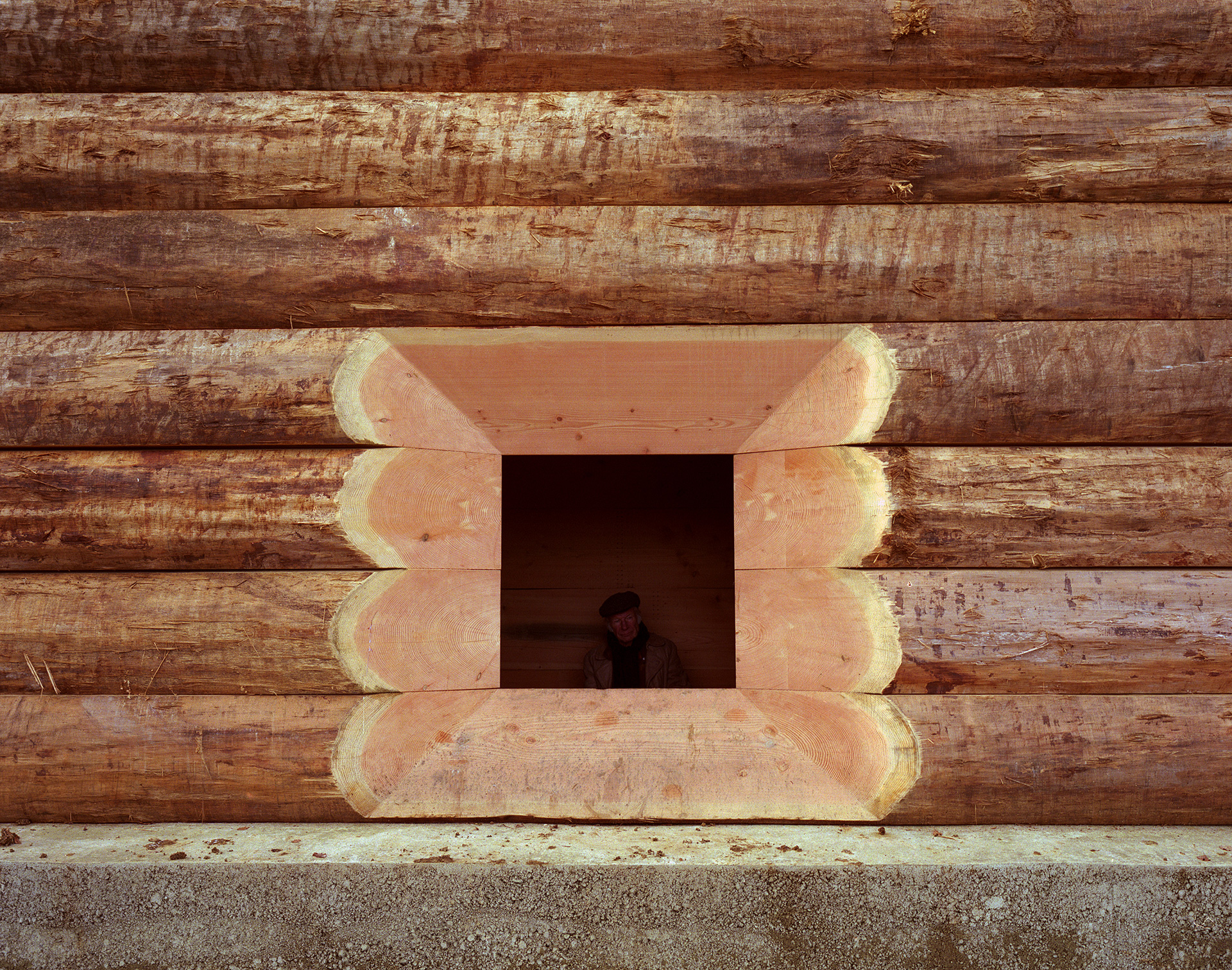 The one small window of the structure | Wooden Chapel | John Pawson | STIR