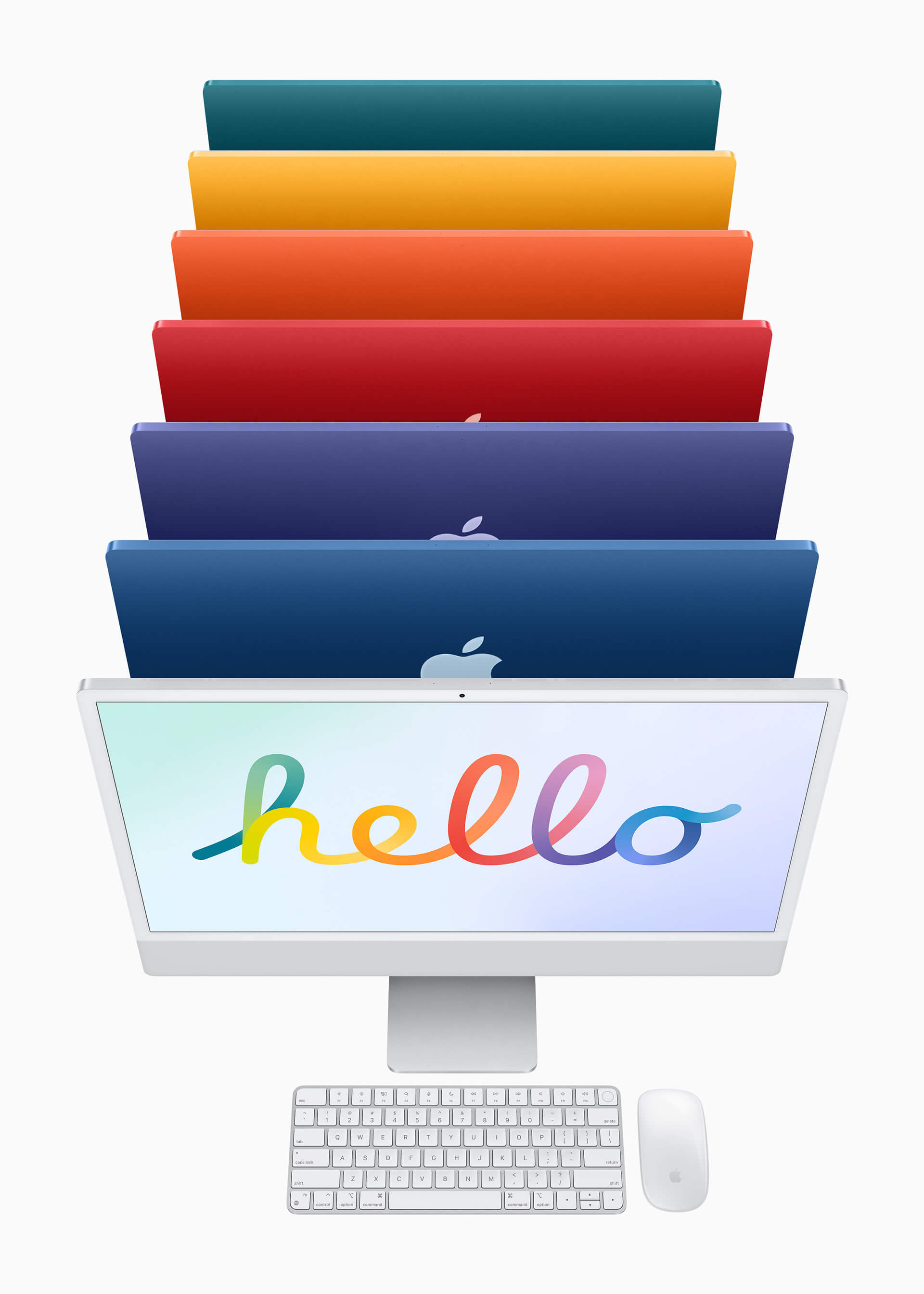 Users can select from seven colours - with lighter tones used around the screen area and darker saturated shades on its back to provide a pop of colour | All new iMac by Apple Inc. | STIRworld