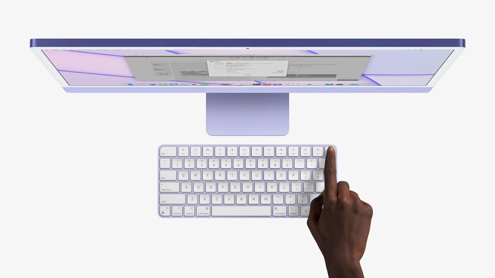 The new revamped Magic Keyboard is available in three different models with elegant aluminium enclosures that can be colour matched to the iMac | All new iMac by Apple Inc. | STIRworld