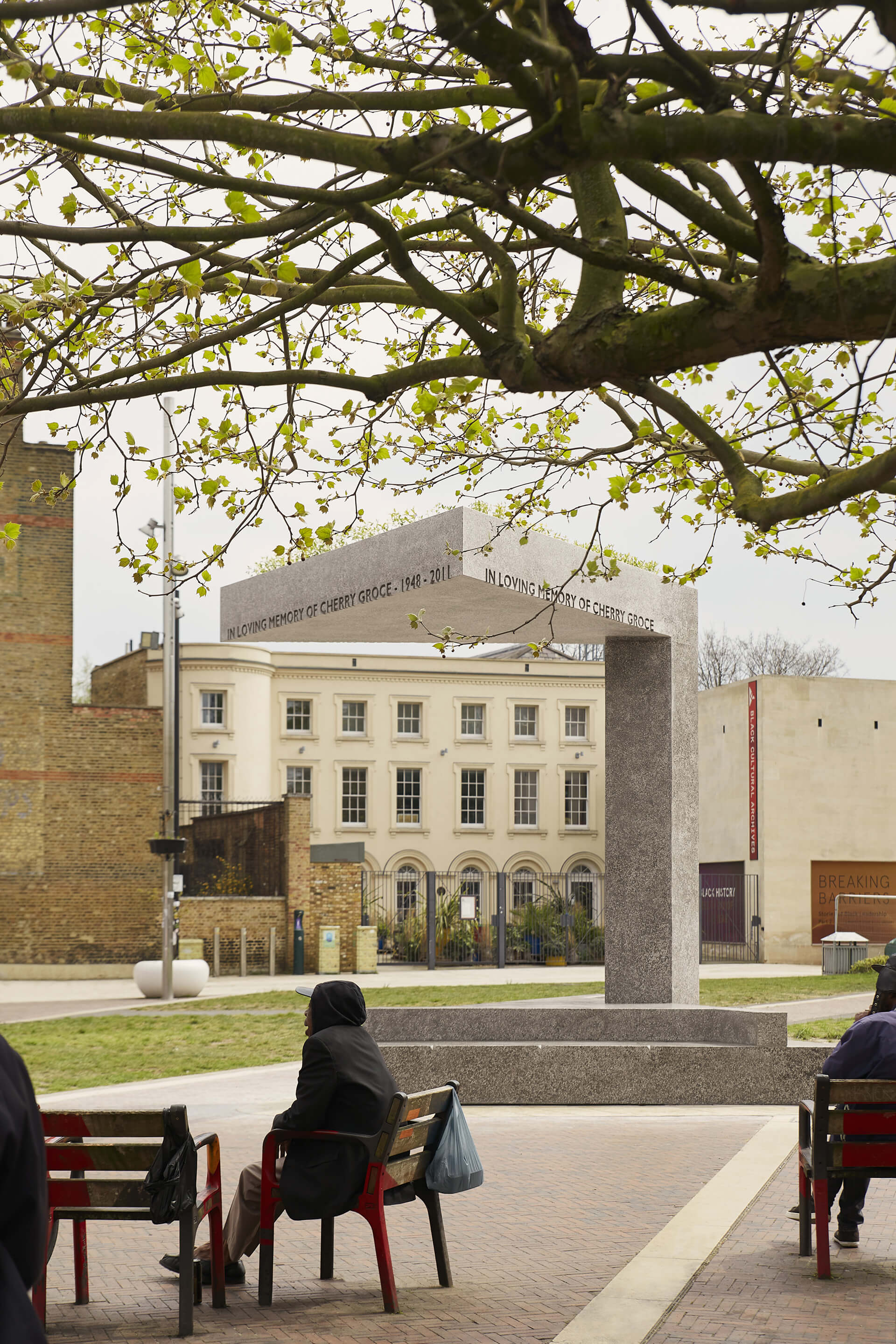 The memorial has been delivered by the Cherry Groce Foundation - a charity aiding marginalised Black, African, and Caribbean communities in the UK | Cherry Groce Memorial Pavilion | Adjaye Associates | STIRworld