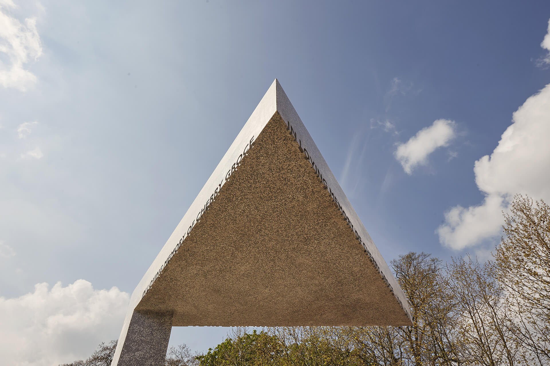 The triangular roof symbolises the shelter and security of the local community| Cherry Groce Memorial Pavilion | Adjaye Associates | STIRworld