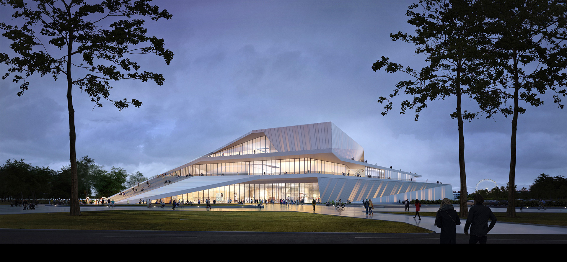 A view of the Blagoveshchensk terminal | Blagoveshchensk-Heihe cable car | UNStudio | STIR