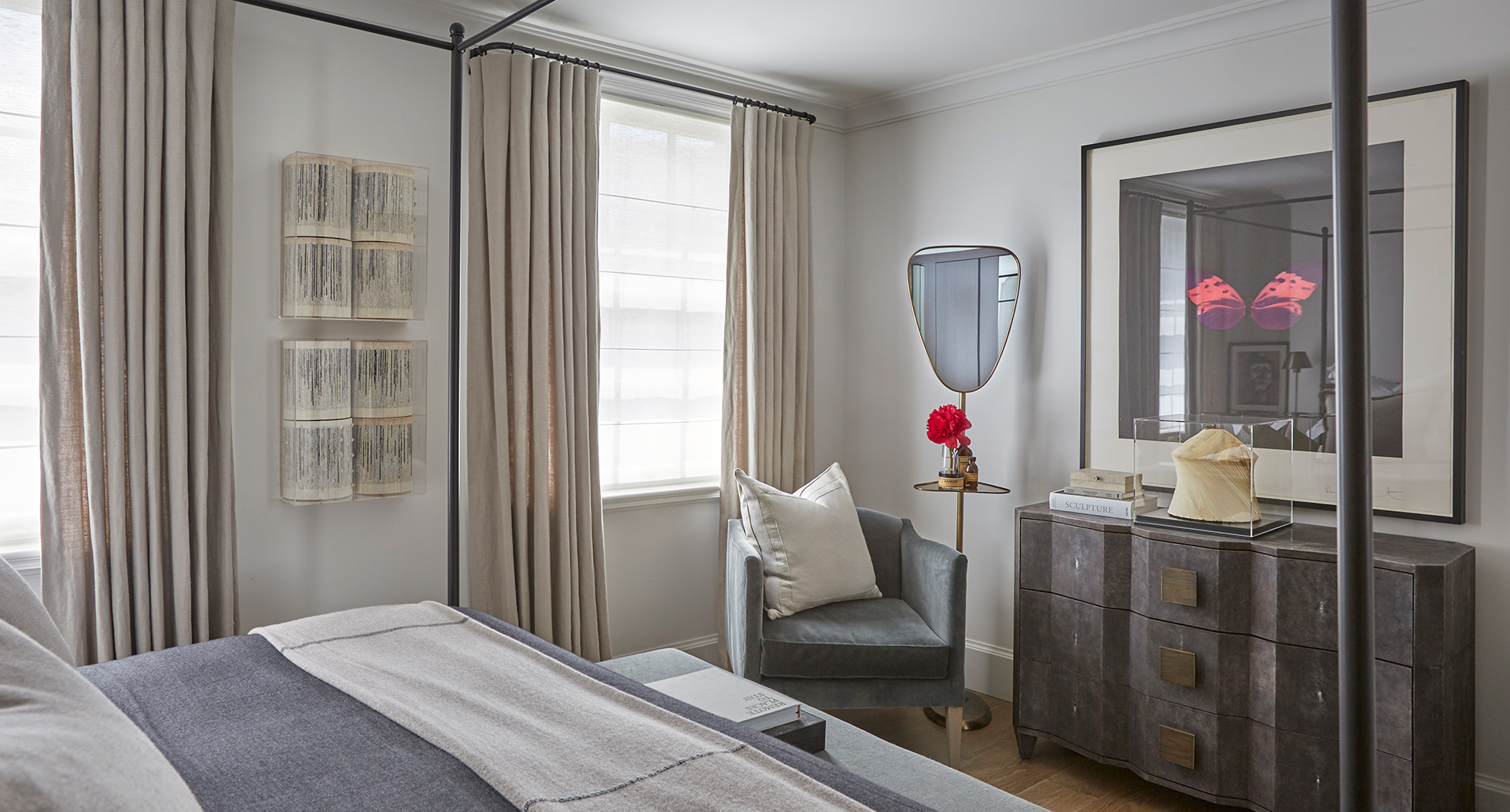 Mostly, the palette seems washed with neutrals in a shade of taupe, but on a closer look, one realises the clever splashes of colour and texture| Louise Bradley| London| STIR