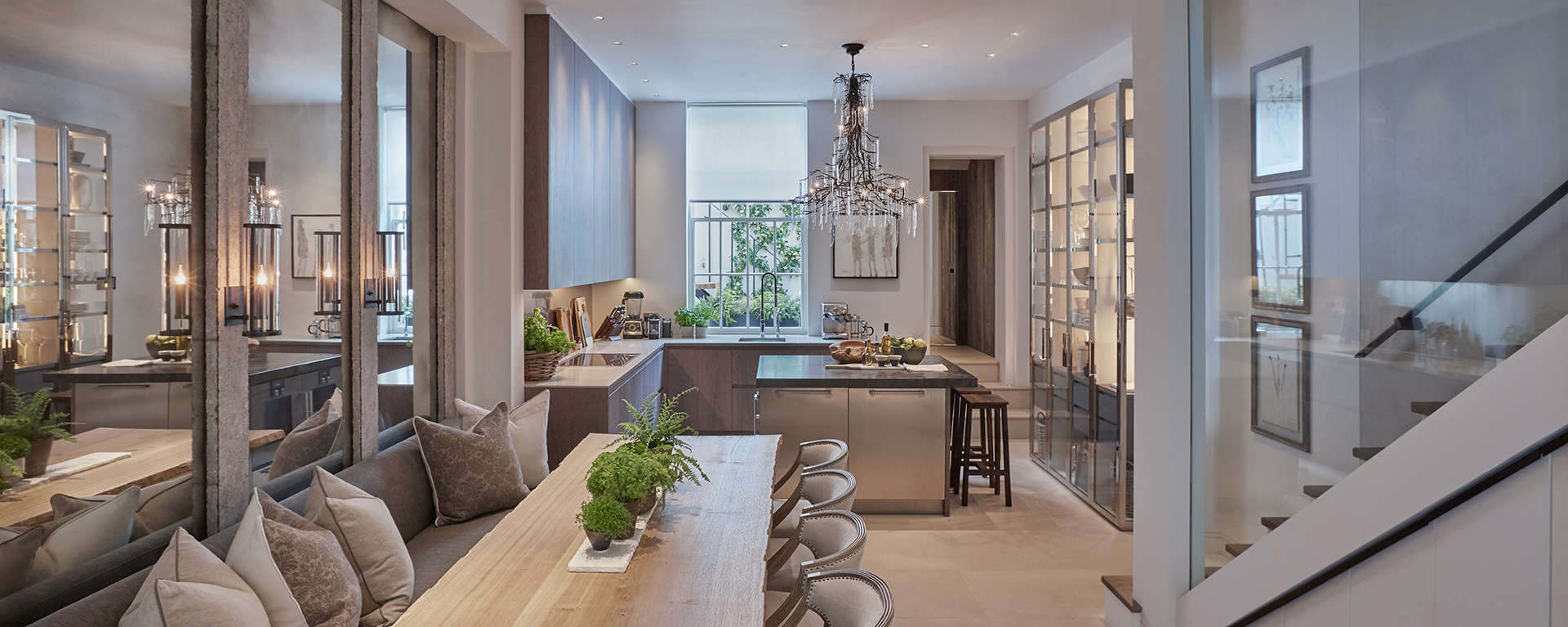 An open-plan kitchen with casual dining and a relaxed living area Louise Bradley| London| STIR