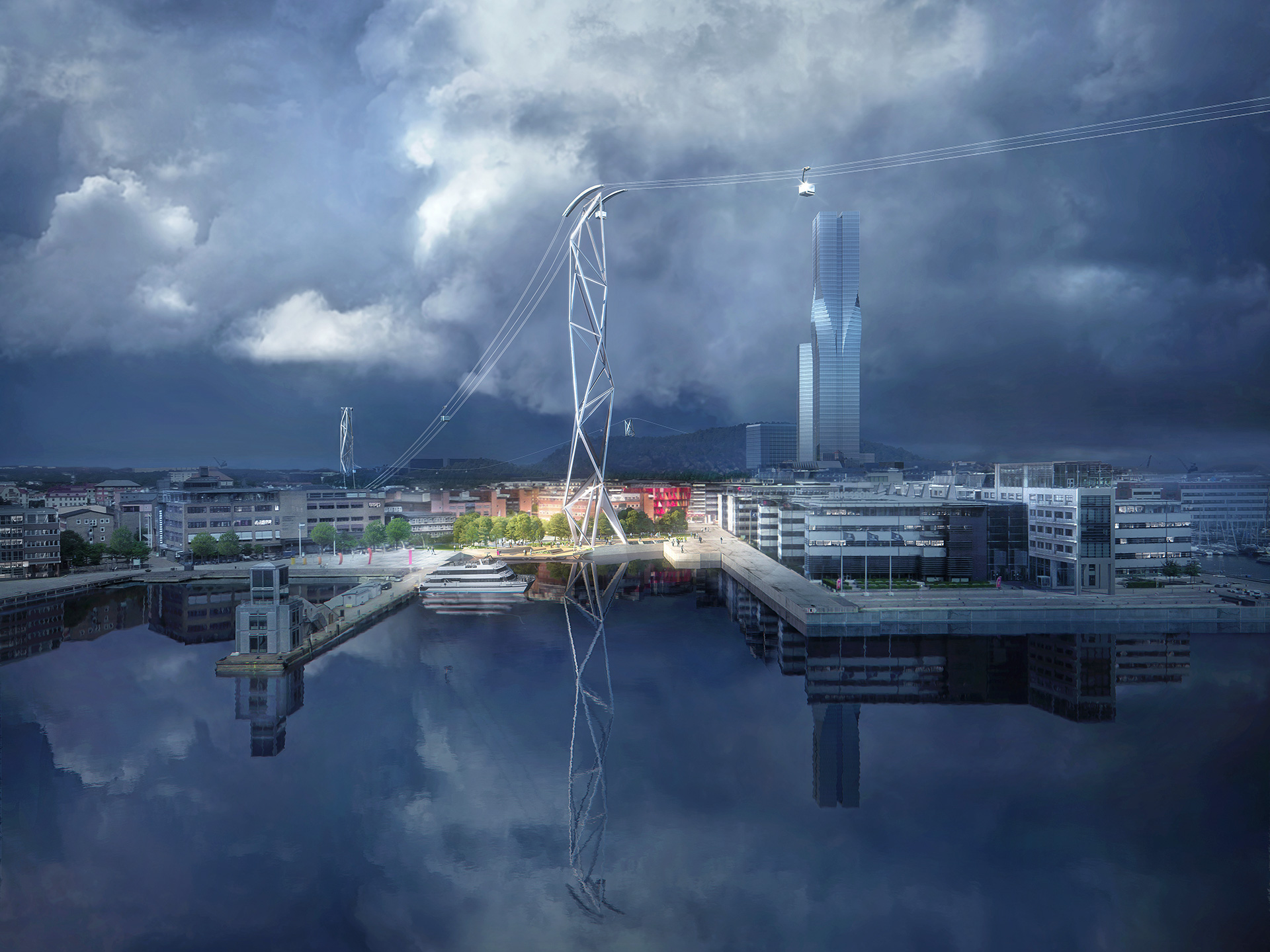 Design for Gothenburg cable car| Sustainable Mobility Report | UNStudio | STIR