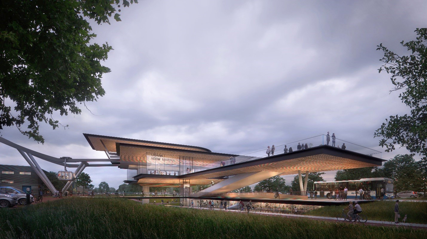 IJbaan cable car – station design| Sustainable Mobility Report | UNStudio | STIR