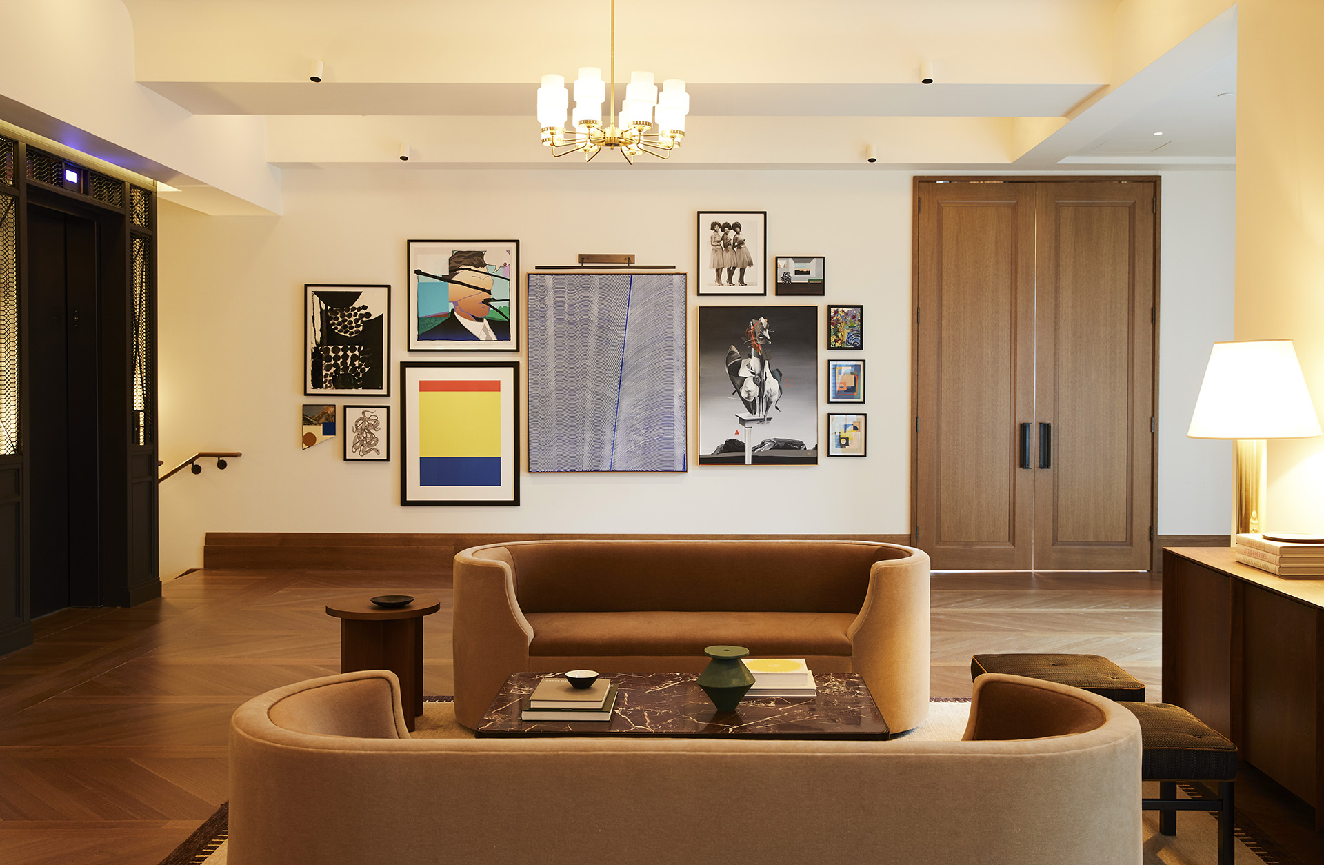 The salon is an extension of the brand with its all tan and leather interiors | Shinola Hotel| Gachot Studio | STIR