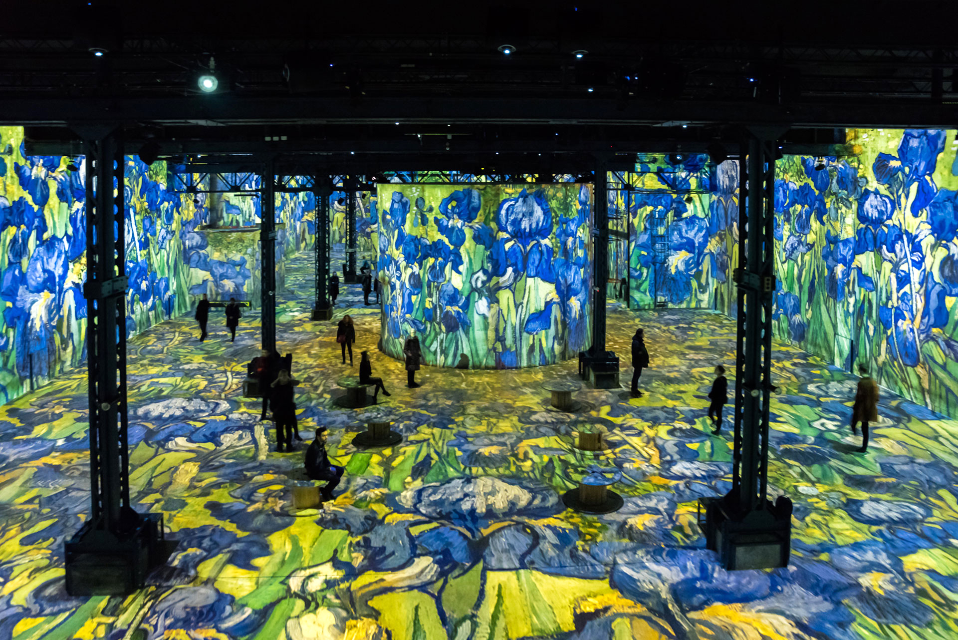 Simulation of the exhibition Gustav Klimt, Installation view 4| Gustav Klimt | Atelier des Lumières | STIR