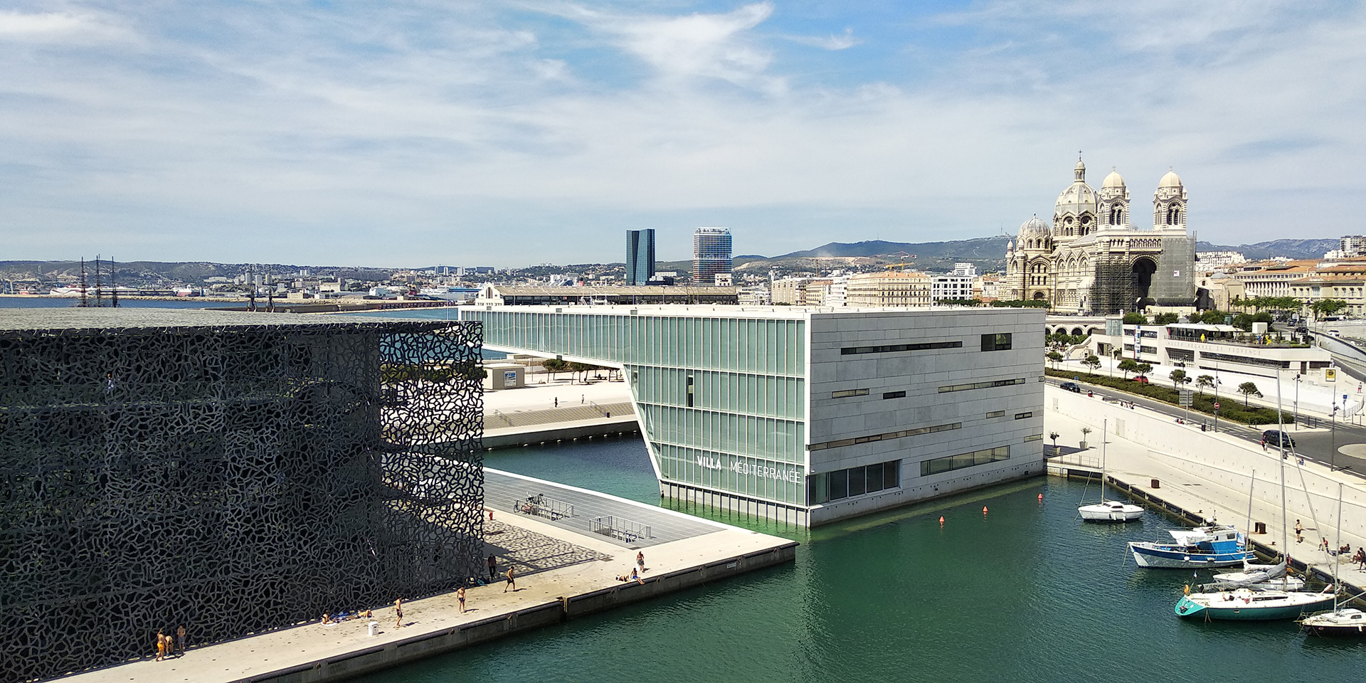 Complete soul of Marseille with glass, steel, stone, concrete, water and decks in the contemporary and heritage buildings (2019)| Marseille | France | STIR