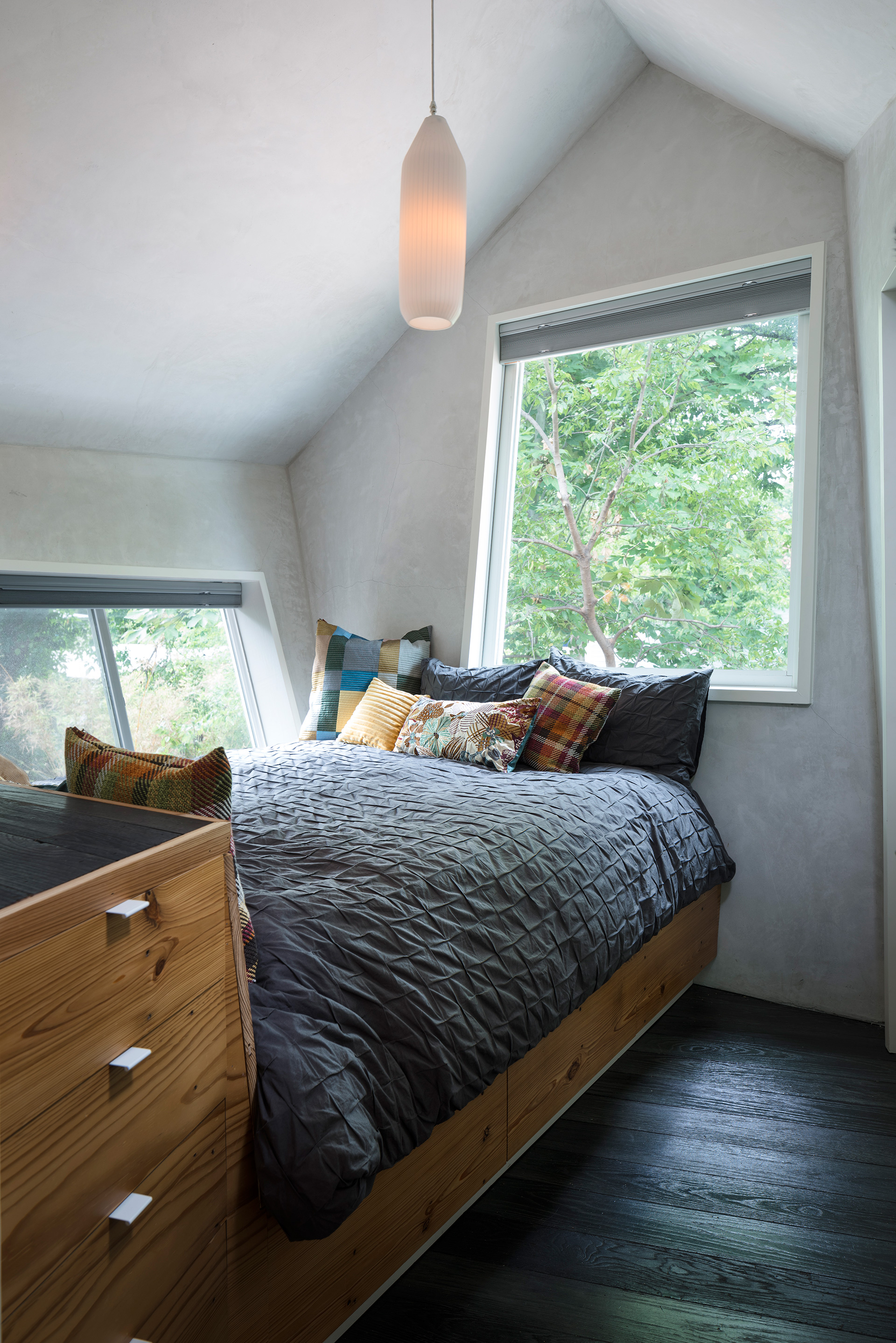 The bedroom is at its widest around shoulder height | The Hive| Nicole Blair| Studio 512 | STIR