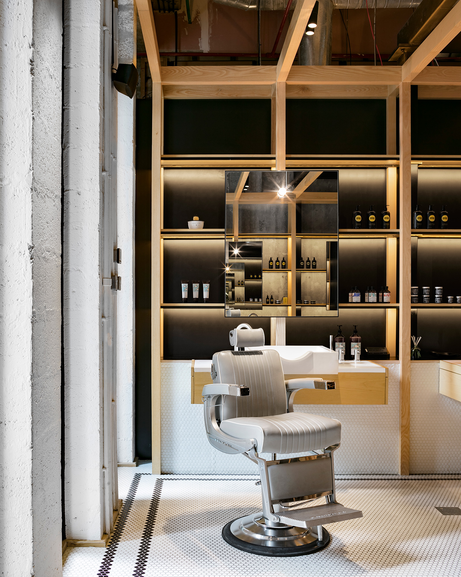 Heavy duty chairs at the barber shop| Akin at The Beach| Akin Barber and Shop| Anarchitect| STIR