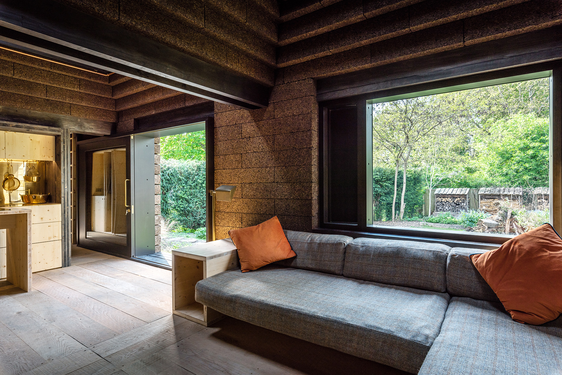 The living area – Cork House| Matthew Barnett Howland | Dido Milne| Oliver Wilton| The Cork House| RIBA Stirling Prize 2019| STIR