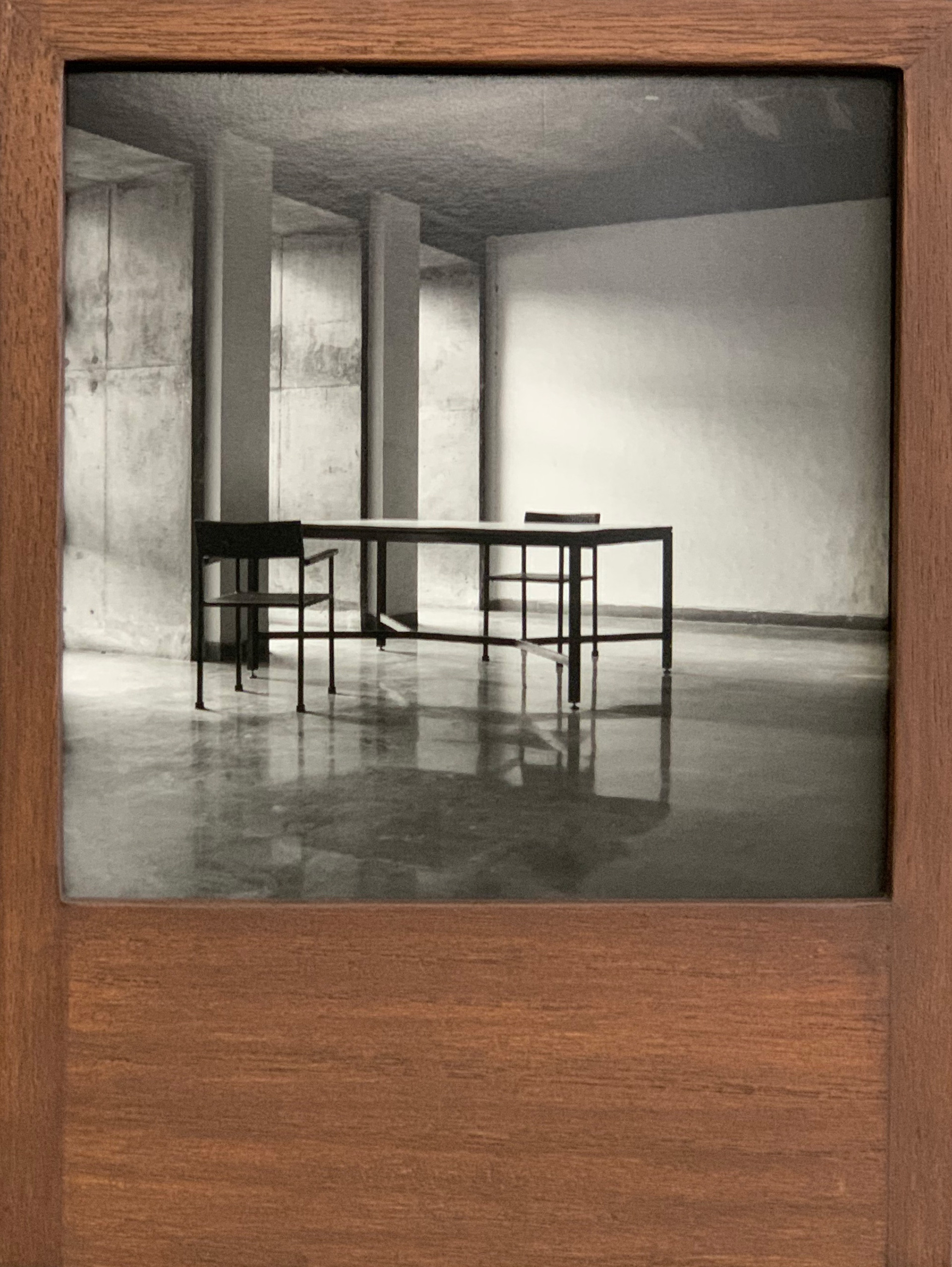 The box, a wooden structure, can be hung on wall or placed on a table. Images can be changed as often as one chooses to; however, they are meant to be separated from the each other or the box | BV Box| Balkrishna Doshi| Lida Shihoko| STIR