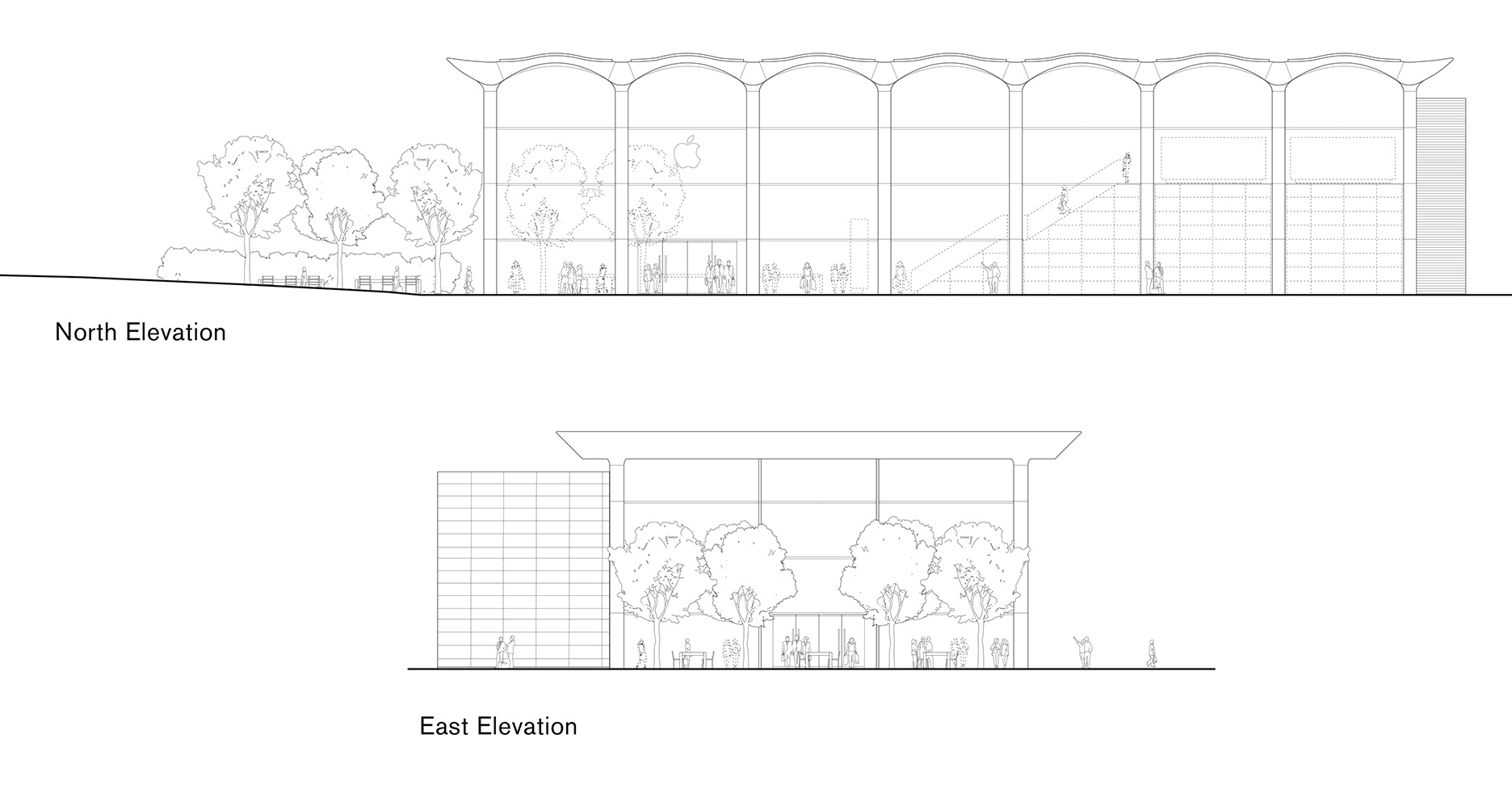 Elevations| Apple Aventura | Foster + Partners | STIR