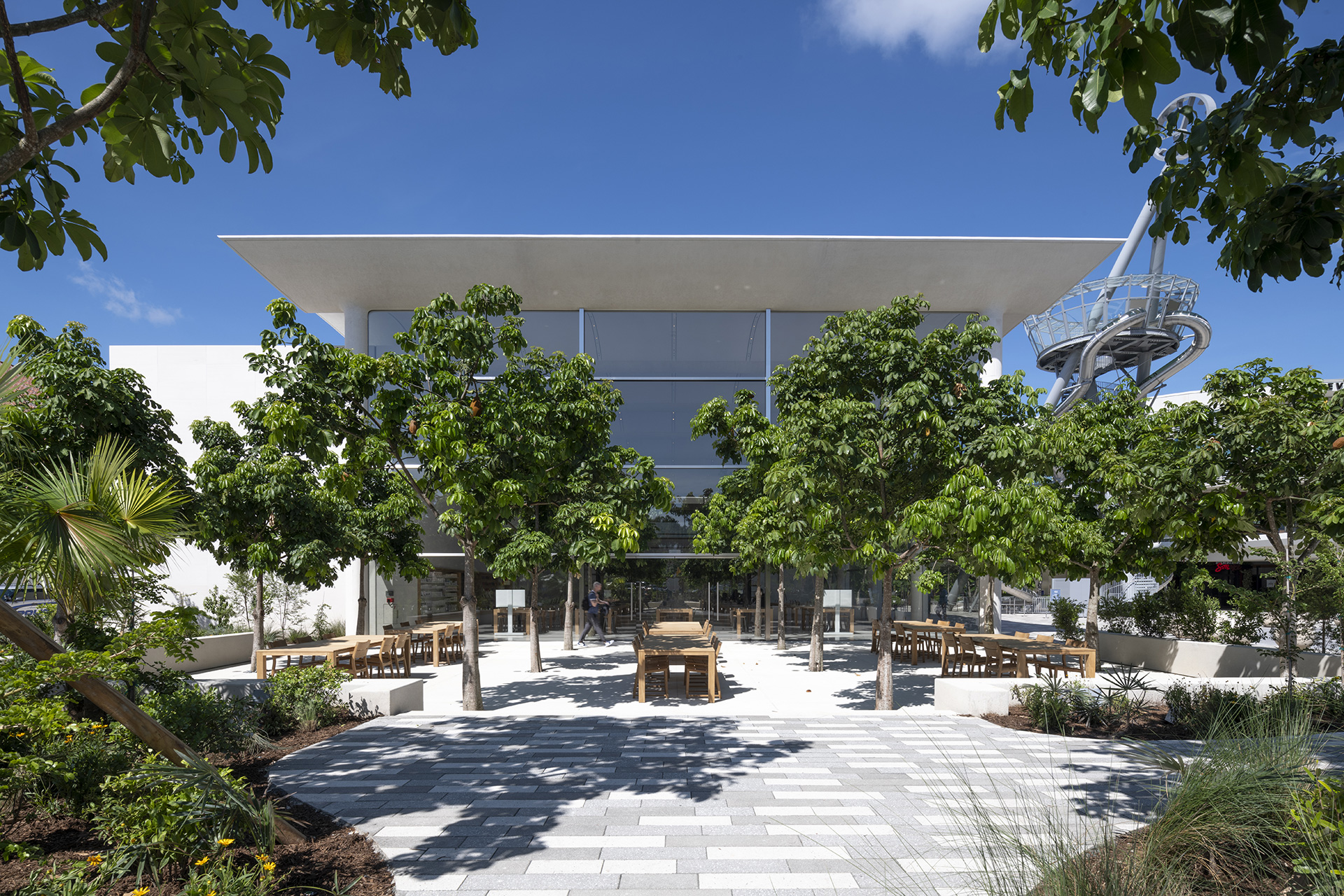 The outdoor Genius Grove (during the day) | Apple Aventura | Foster + Partners | STIR