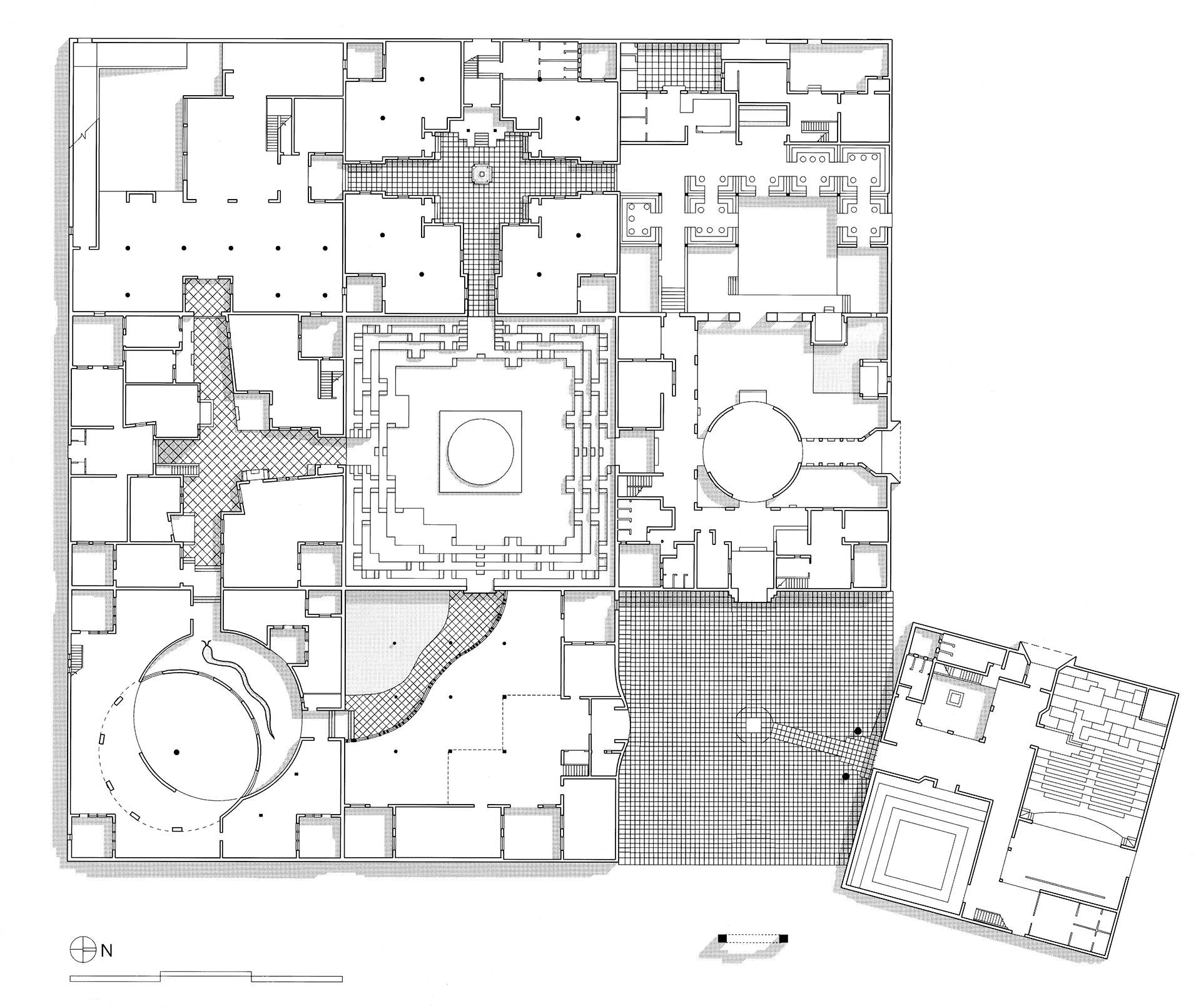 Layout Plan | JKK | Charles Correa Associates | STIR