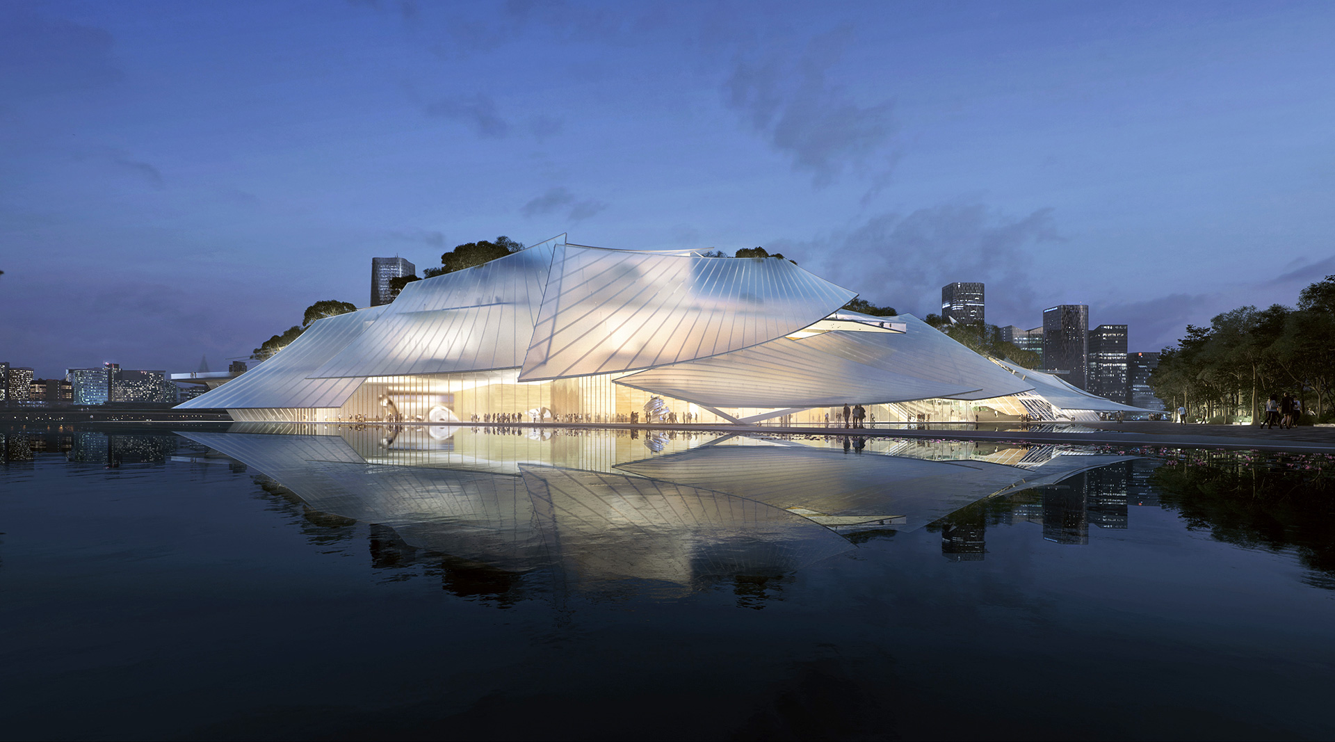 MAD has designed Yiwu Grand Theater as a floating boat in the Dongyang waters | Yiwu Grand Theater | MAD Architects | STIR