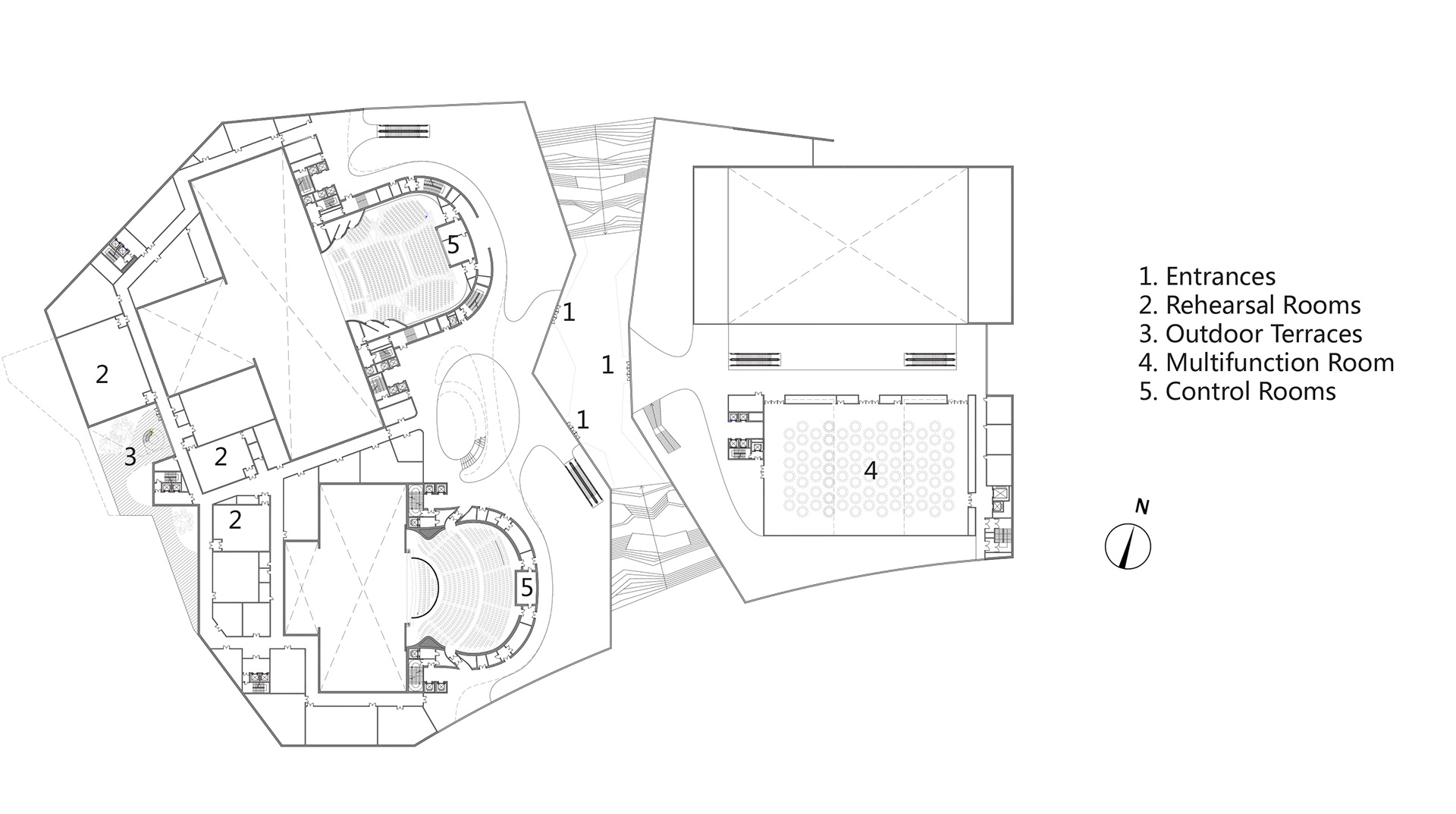Second floor plan | Yiwu Grand Theater | MAD Architects | STIR