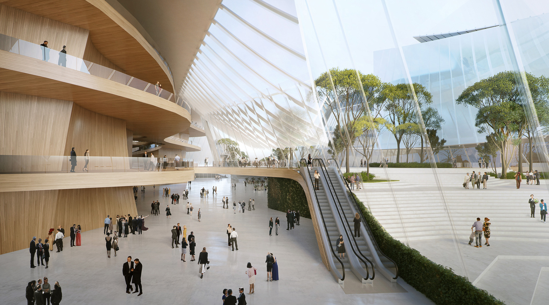 Lightness and transparency permeate all spaces within the design | Yiwu Grand Theater | MAD Architects | STIR