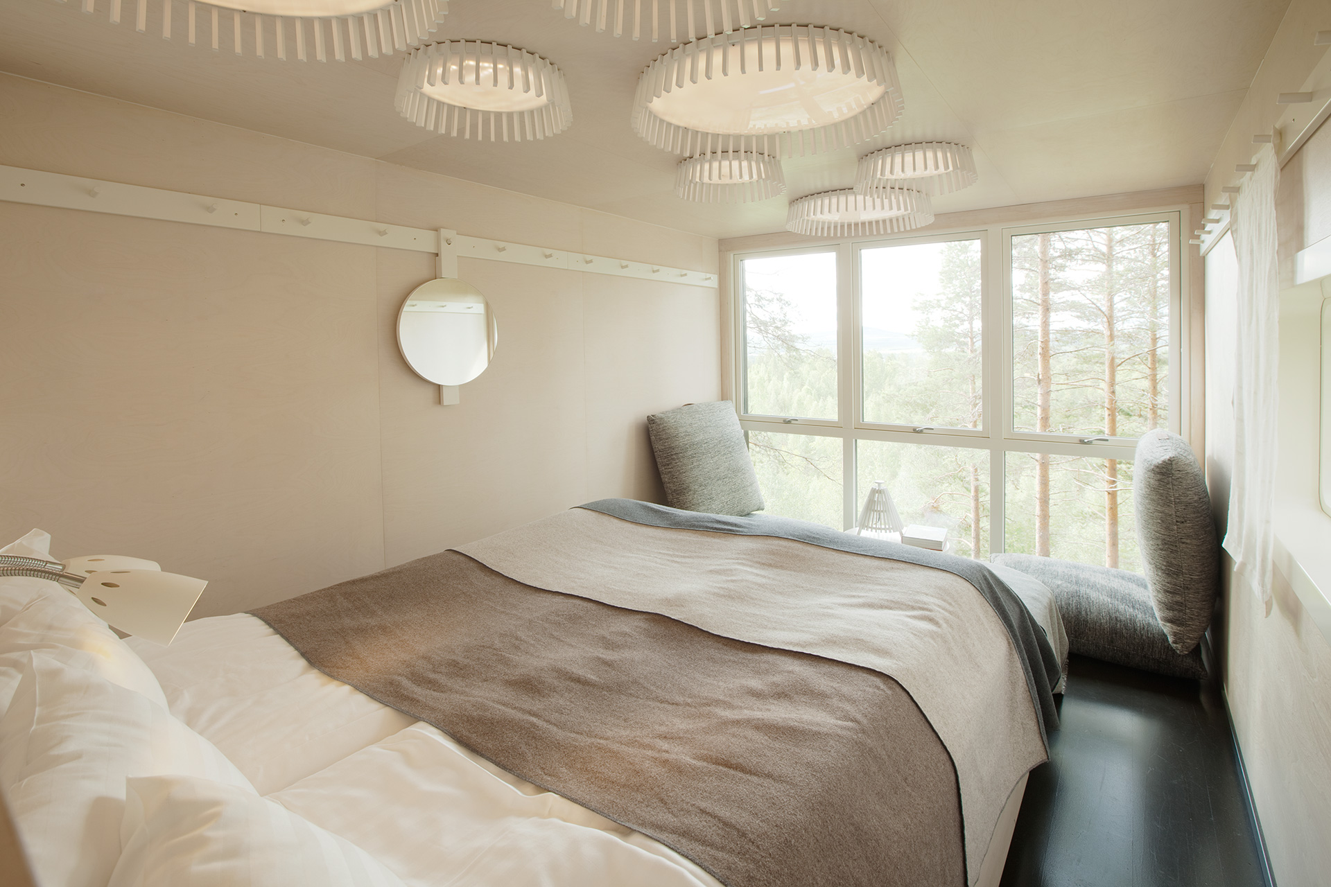 Interiors of a room at the Treehotel | Treehotel | Kent, Britta Lindvall | STIR