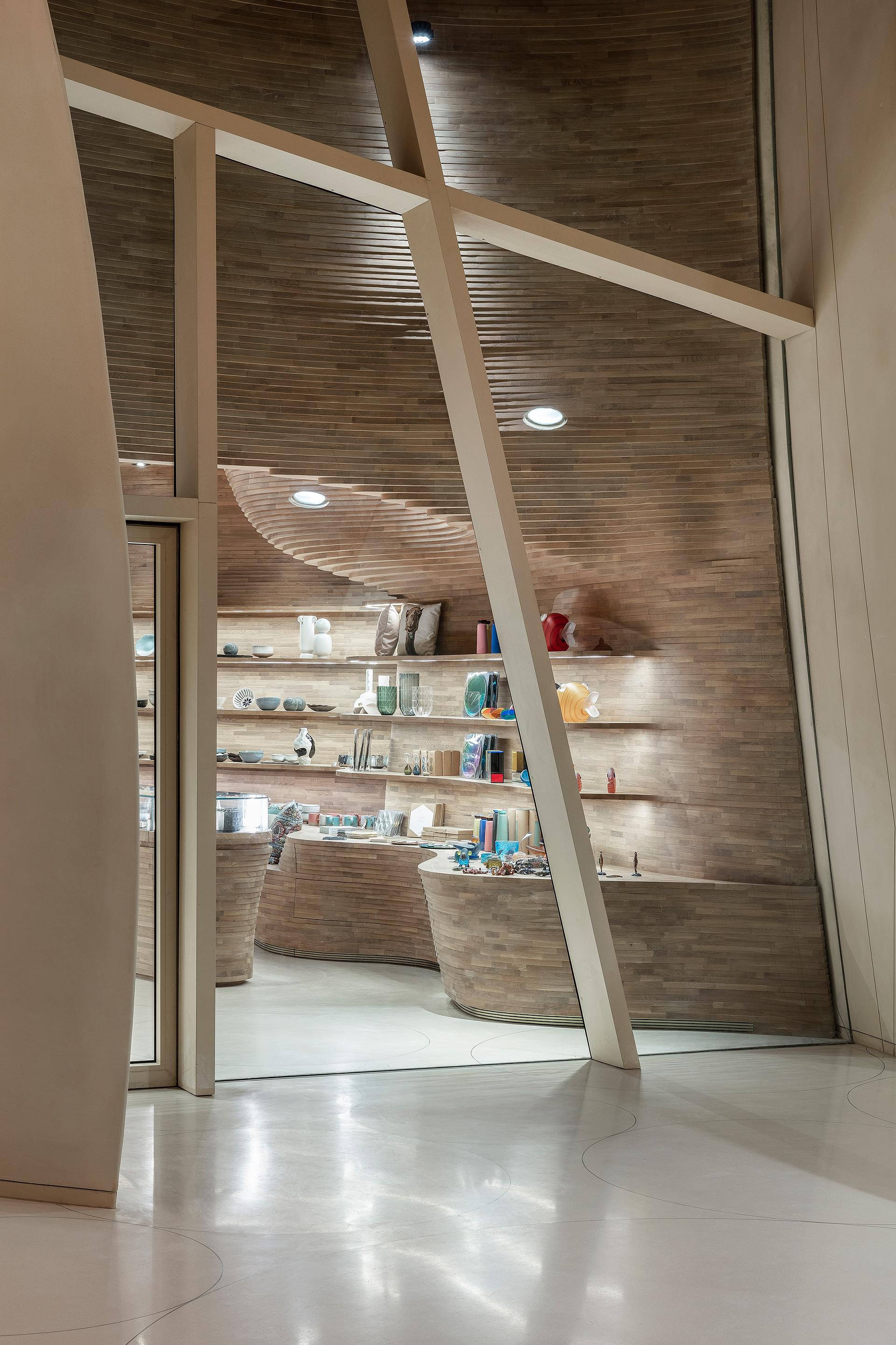 Gift shop as seen from the lobby | Qatar Museum Interiors | Koichi Takada Architects| STIR