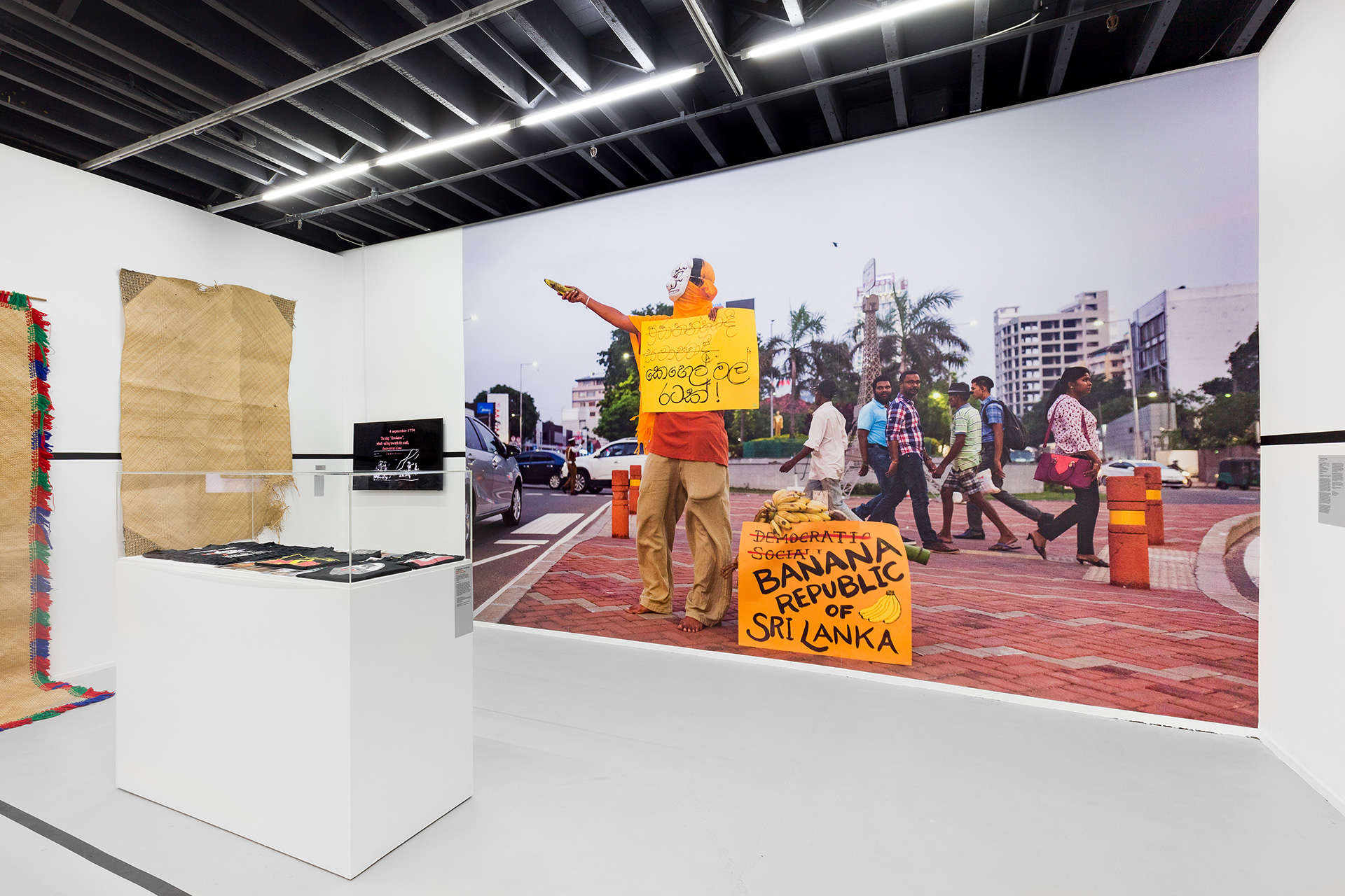 Installation view of Venuri Perera's Banana Republic, 52 ARTISTS 52 ACTIONS, Artspace, Sydney, 2019| 52 ARTISTS 52 ACTIONS | Artspace, Sydney | STIR