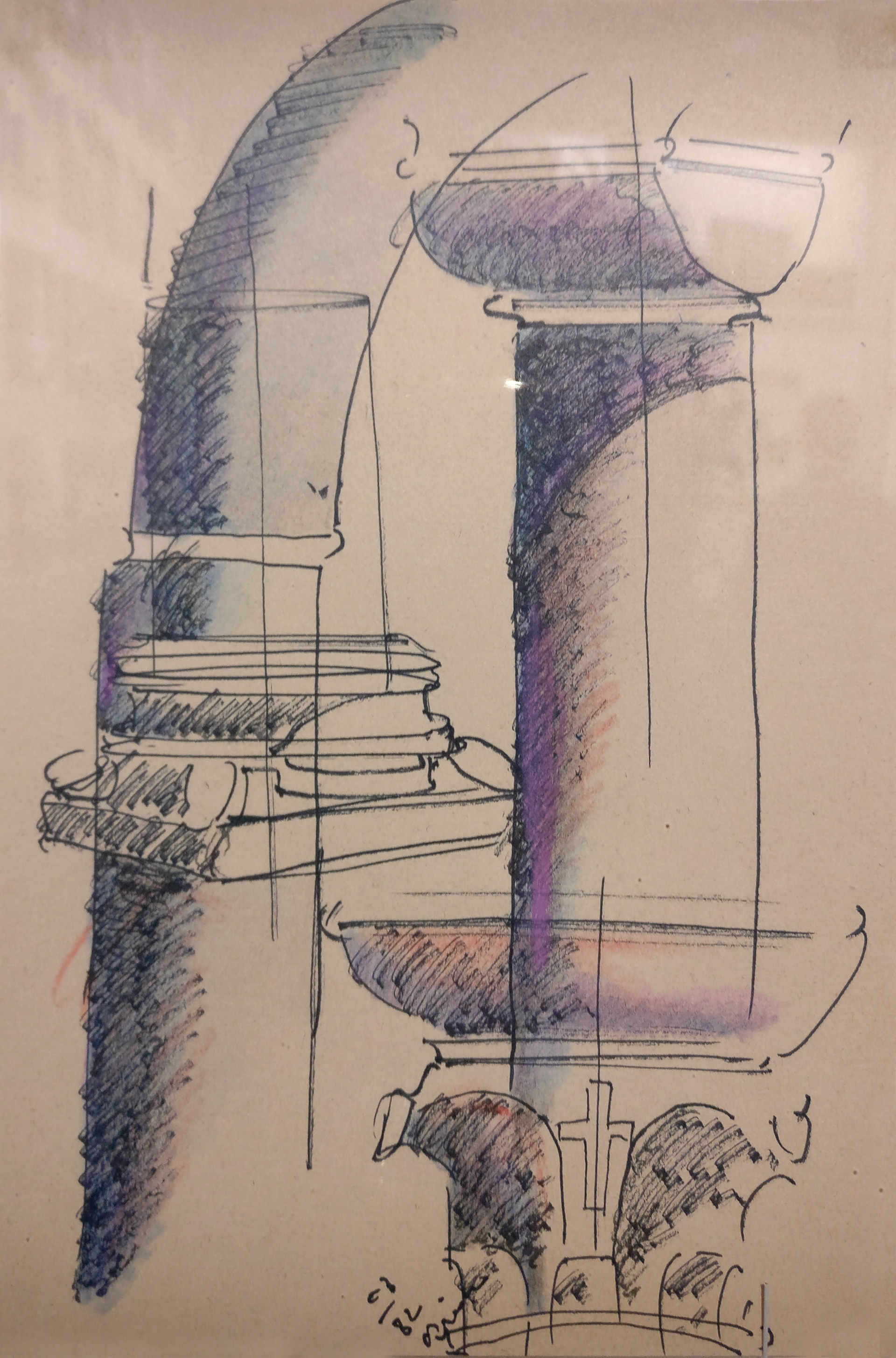 Sketch by Tadao Ando, at The Challenge, on display at Armani/Silos| The Challenge| Tadao Ando| Armani/Silos| STIR