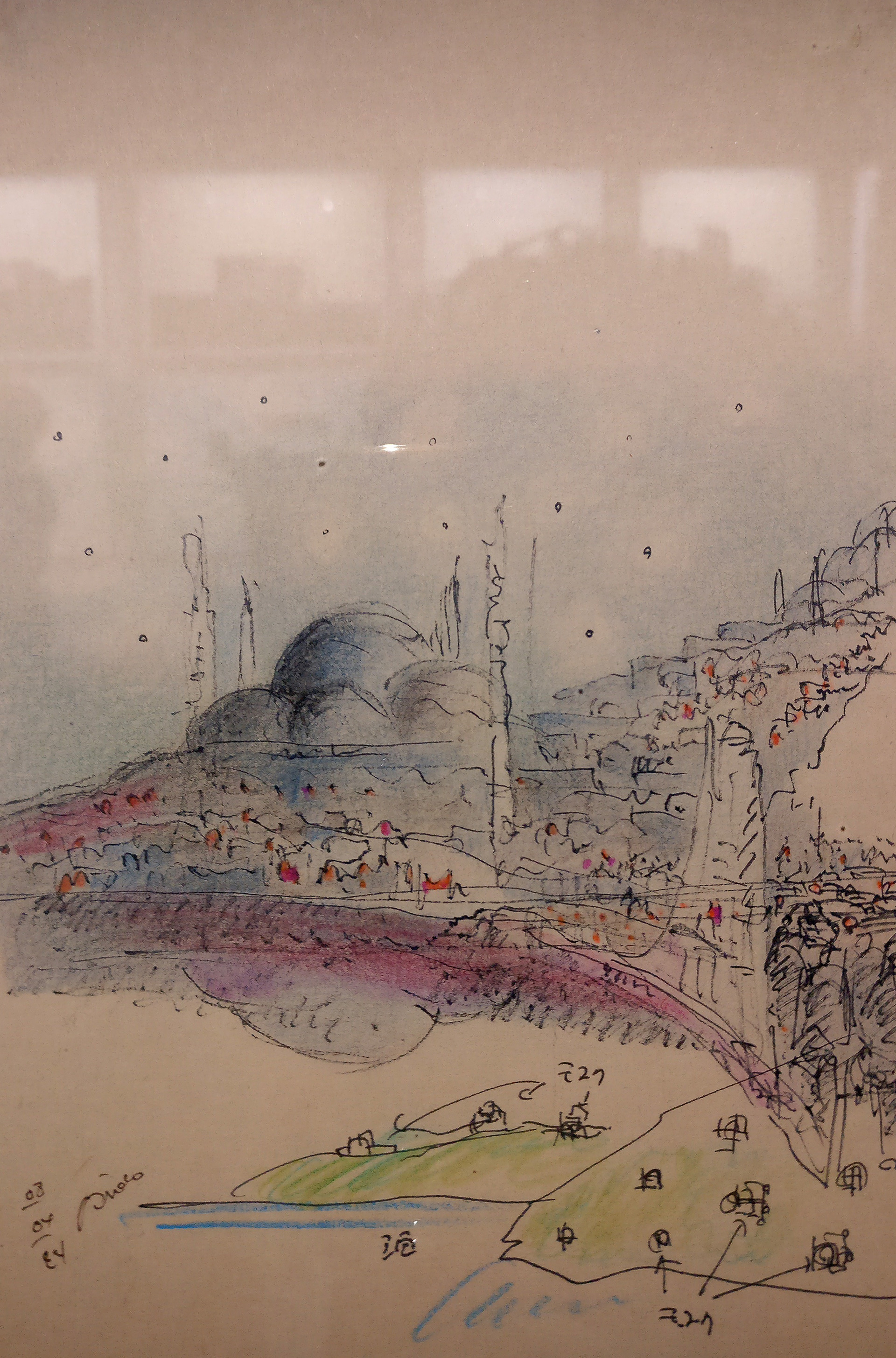 Sketch by Tadao Ando, at The Challenge on display at Armani/Silos| The Challenge| Tadao Ando| Armani/Silos| STIR