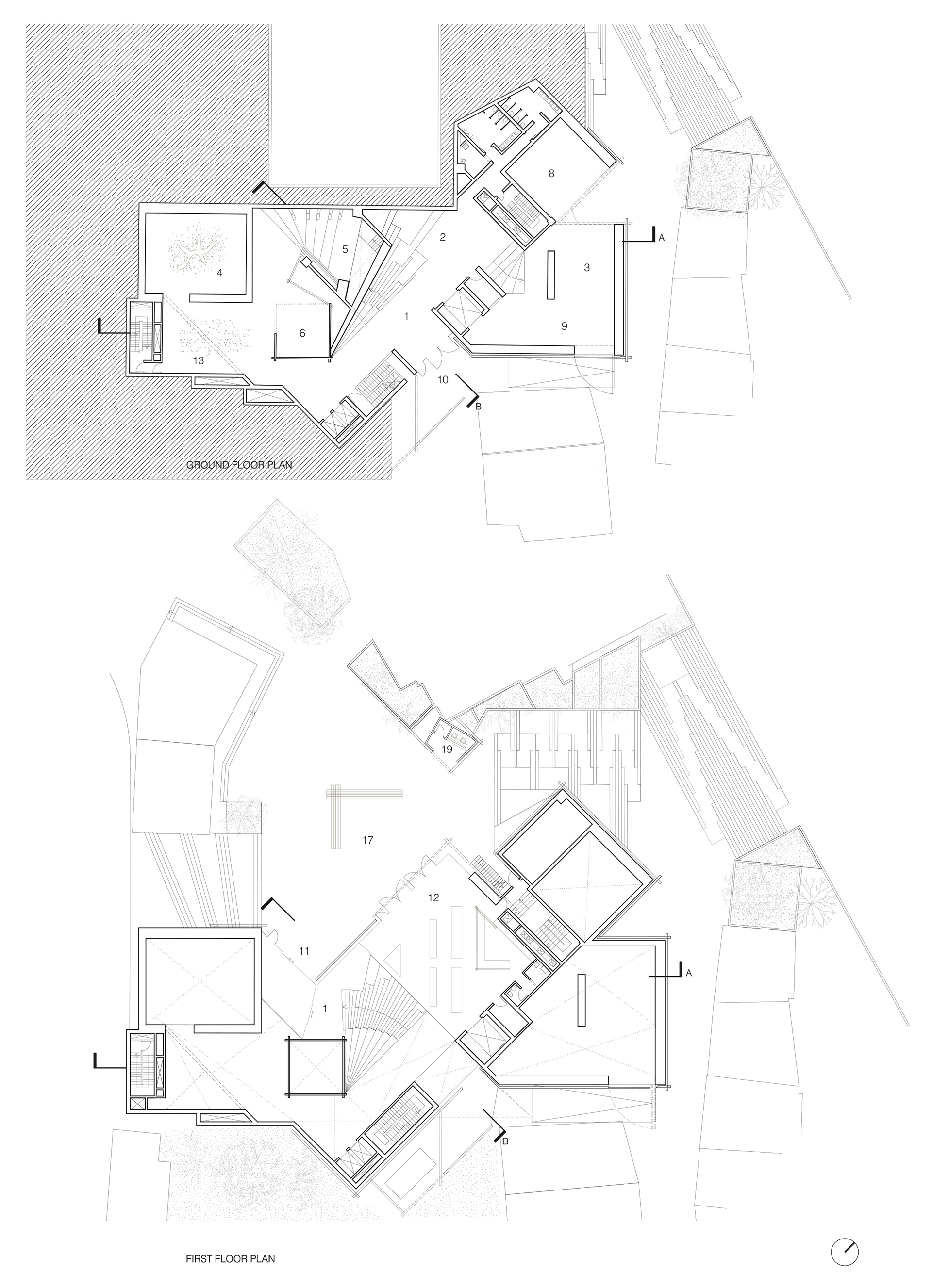 Ground and First Floor Plans - OMM | Odunpazari Modern Museum| Kengo Kuma and Associates | STIR