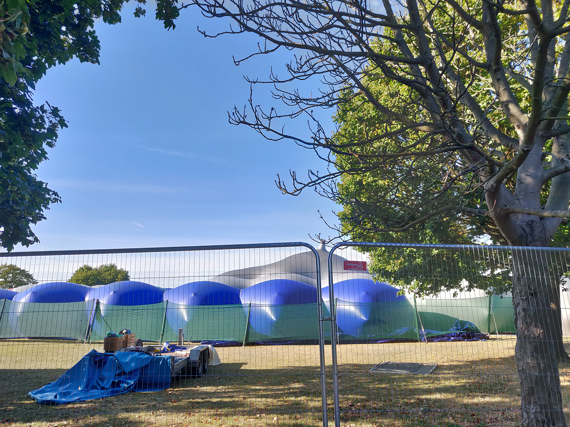 Colourscape Music Festival from the outside at Clapham Common | London Design Festival 2019 | STIR