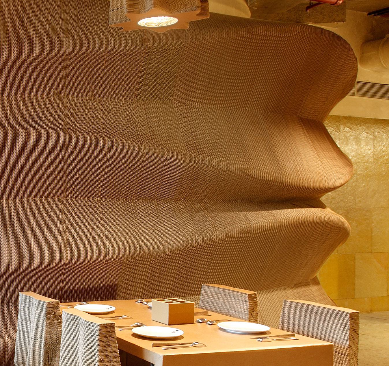 Enjoying the contours and textures of the corrugated material | Cardboard | Nudes | Nuru Karim | STIR