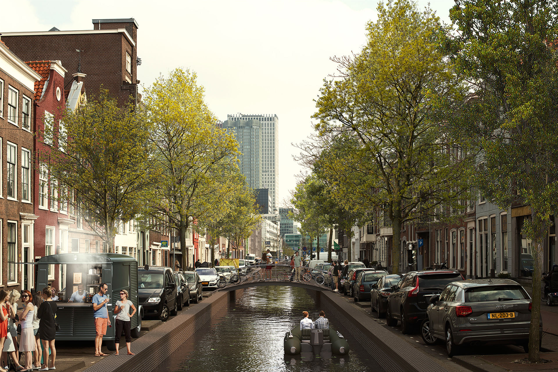 Amsterdamse Veerkade - Proposed | MVRDV| Hague Canals| STIR