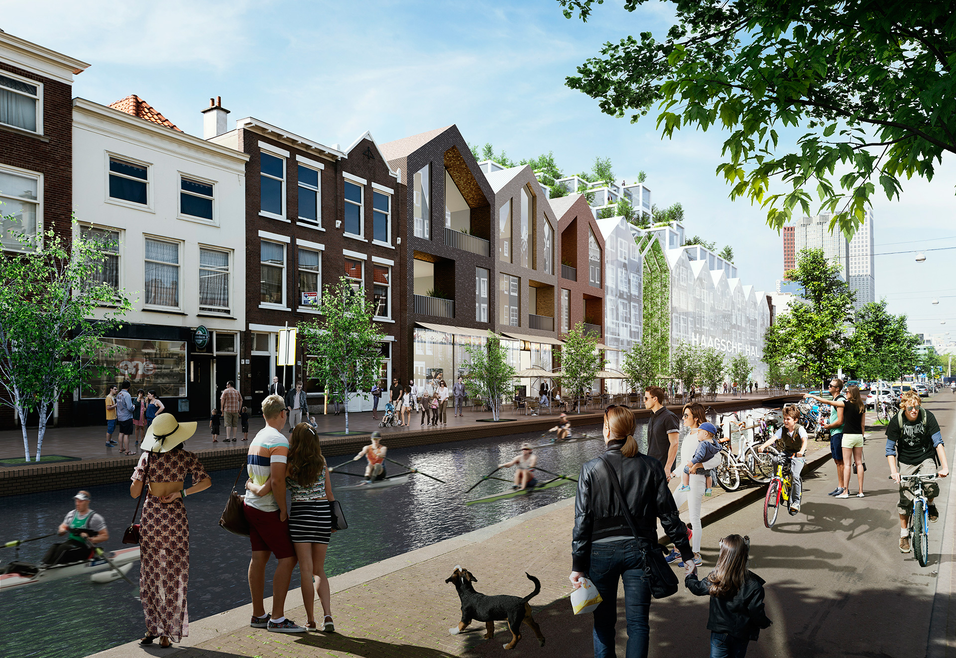 Amsterdamseveerkade - Proposed | MVRDV| Hague Canals| STIR