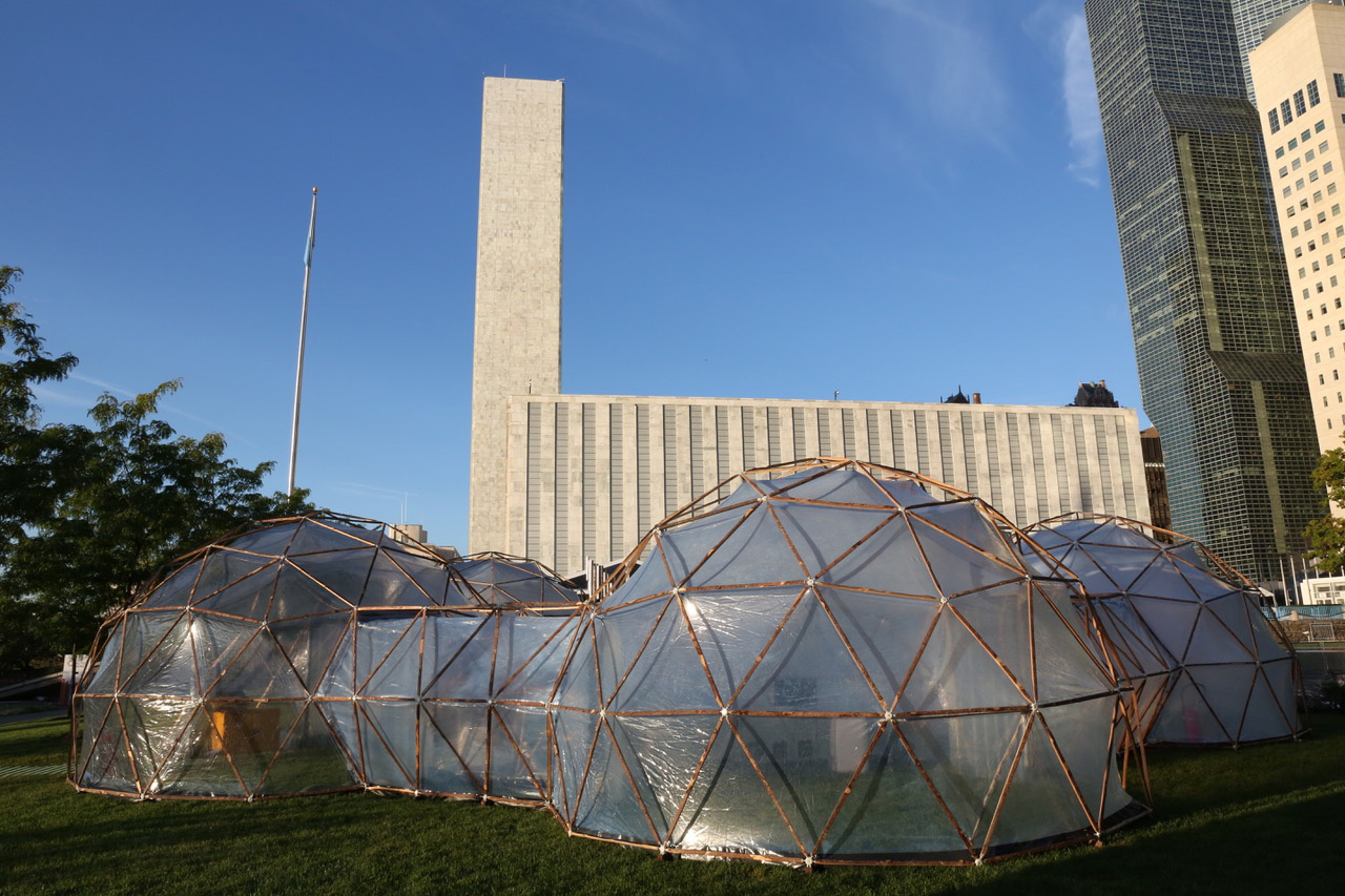 Pollution Pods at the UN Headquarters, New York | Pollution Pods | Michael Pinsky | STIRworld