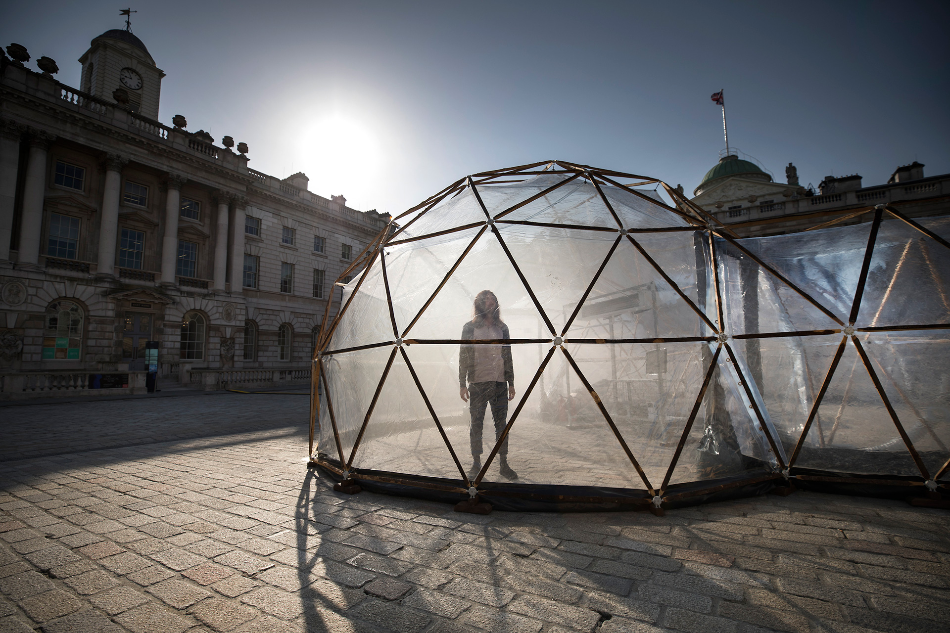 Pollution Pods at the Somerset House, London for Earth Day (April 2018) | Pollution Pods | Michael Pinsky | STIRworld