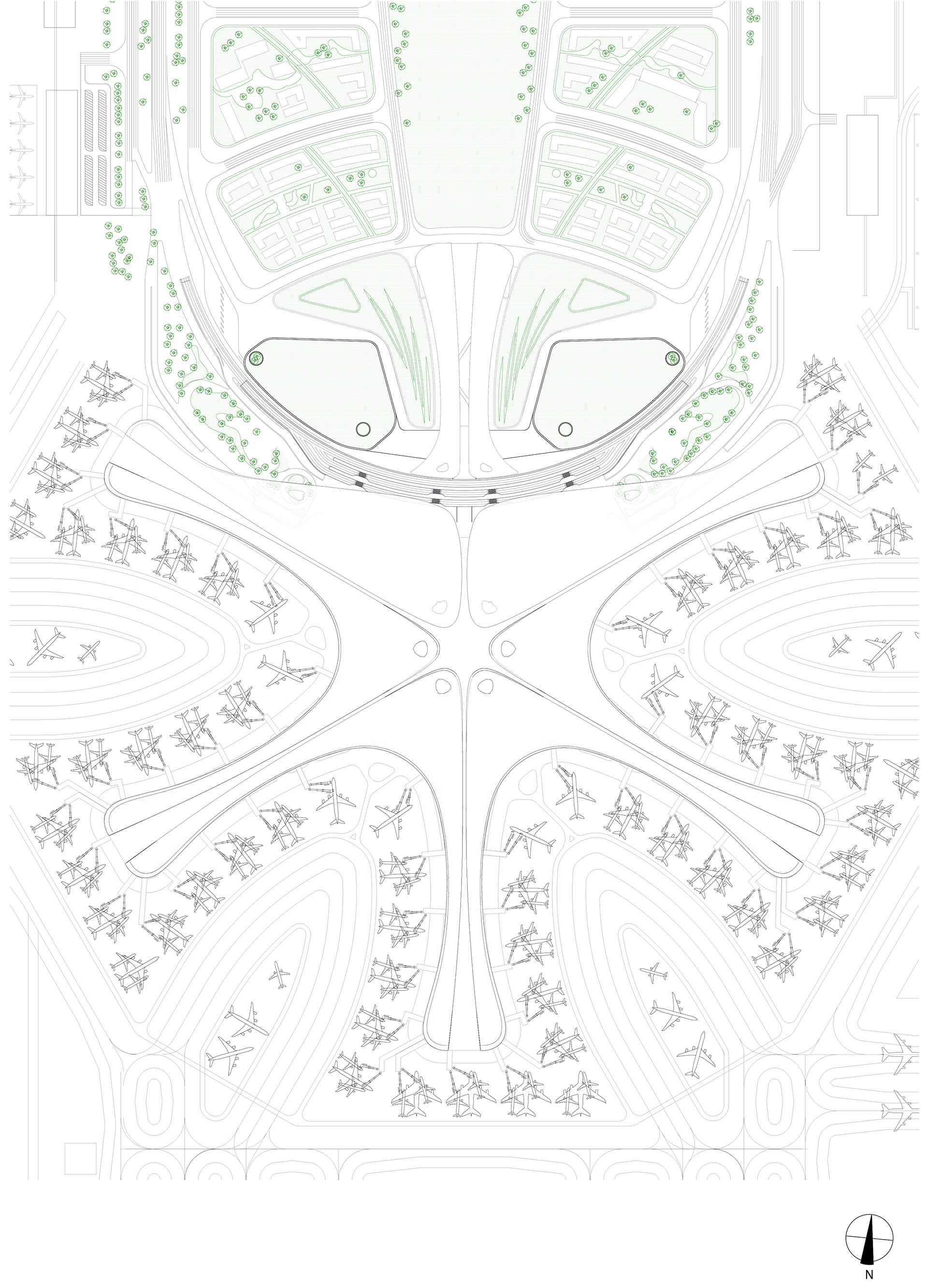 Beijing Daxing International Airport - Roof Plan | Beijing Daxing International Airport | Zaha Hadid Architects | STIRworld