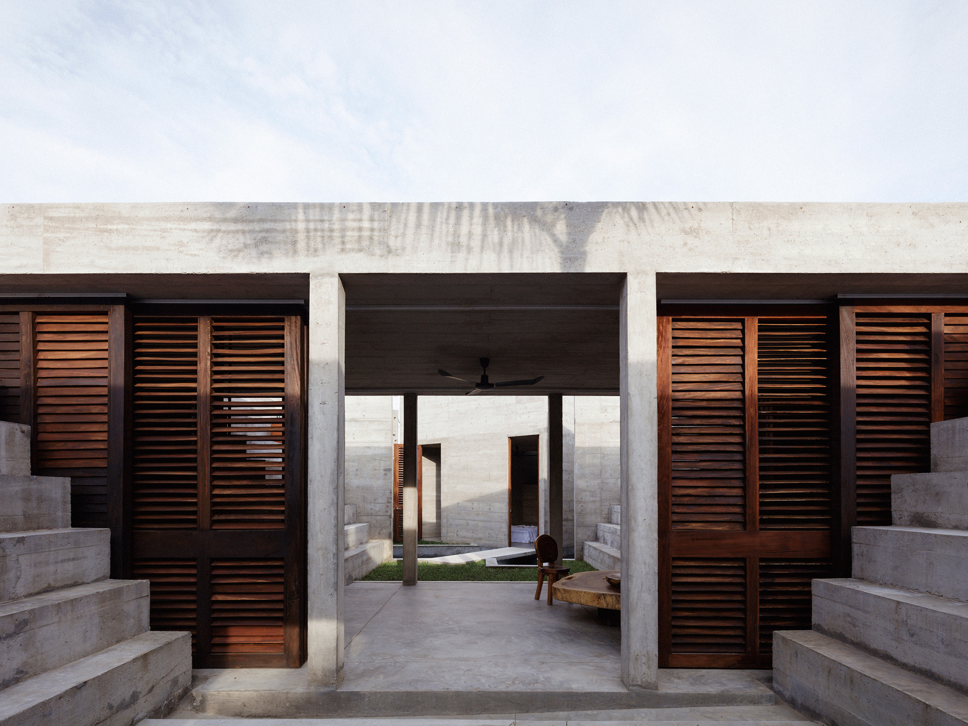 Courtyards connected through a semi-open space | Zicatela HouseMexico | Ludwig Godefroy | STIRworld