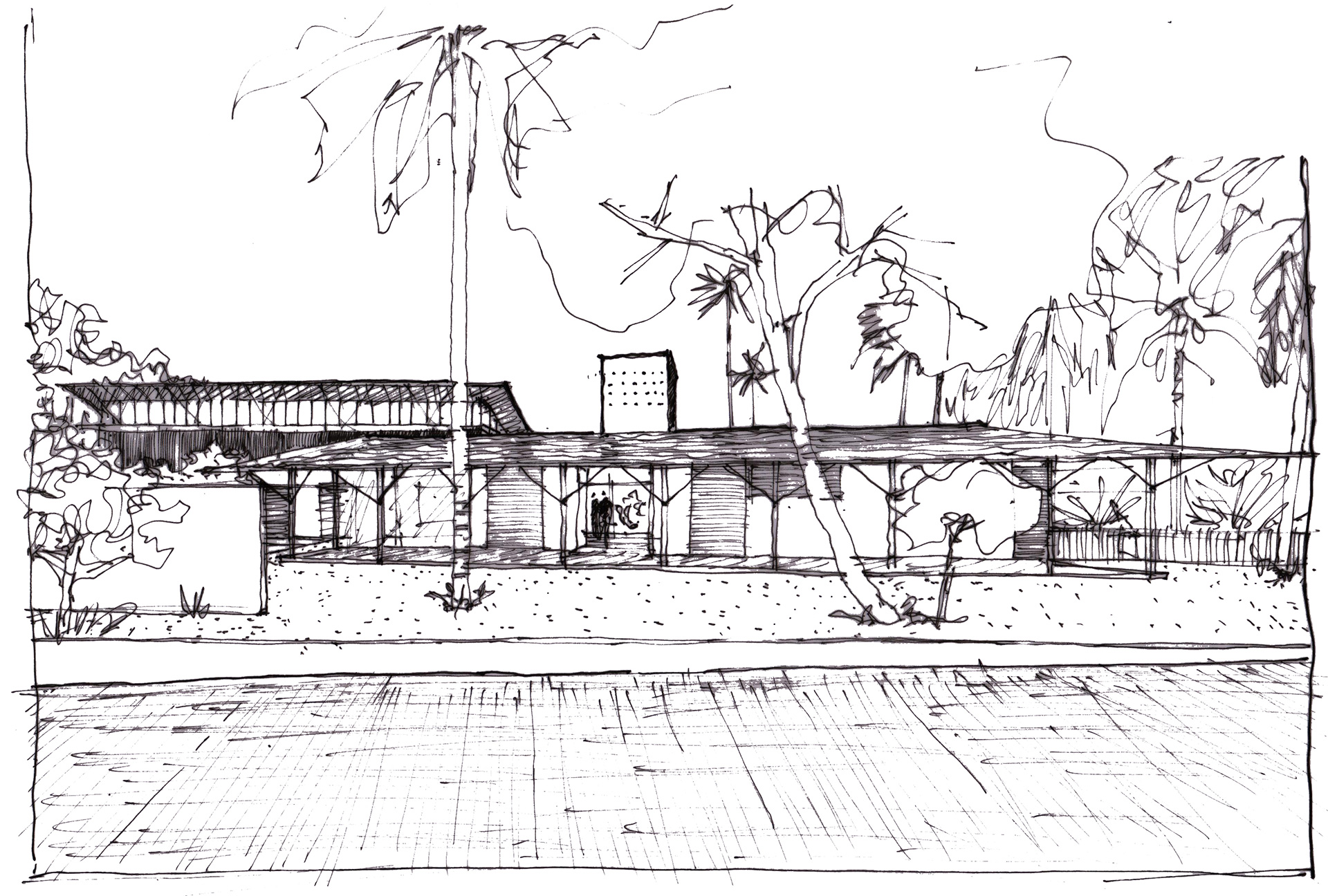 Conceptual sketch| The Skew House, Kerala | Thought Parallels | STIRworld