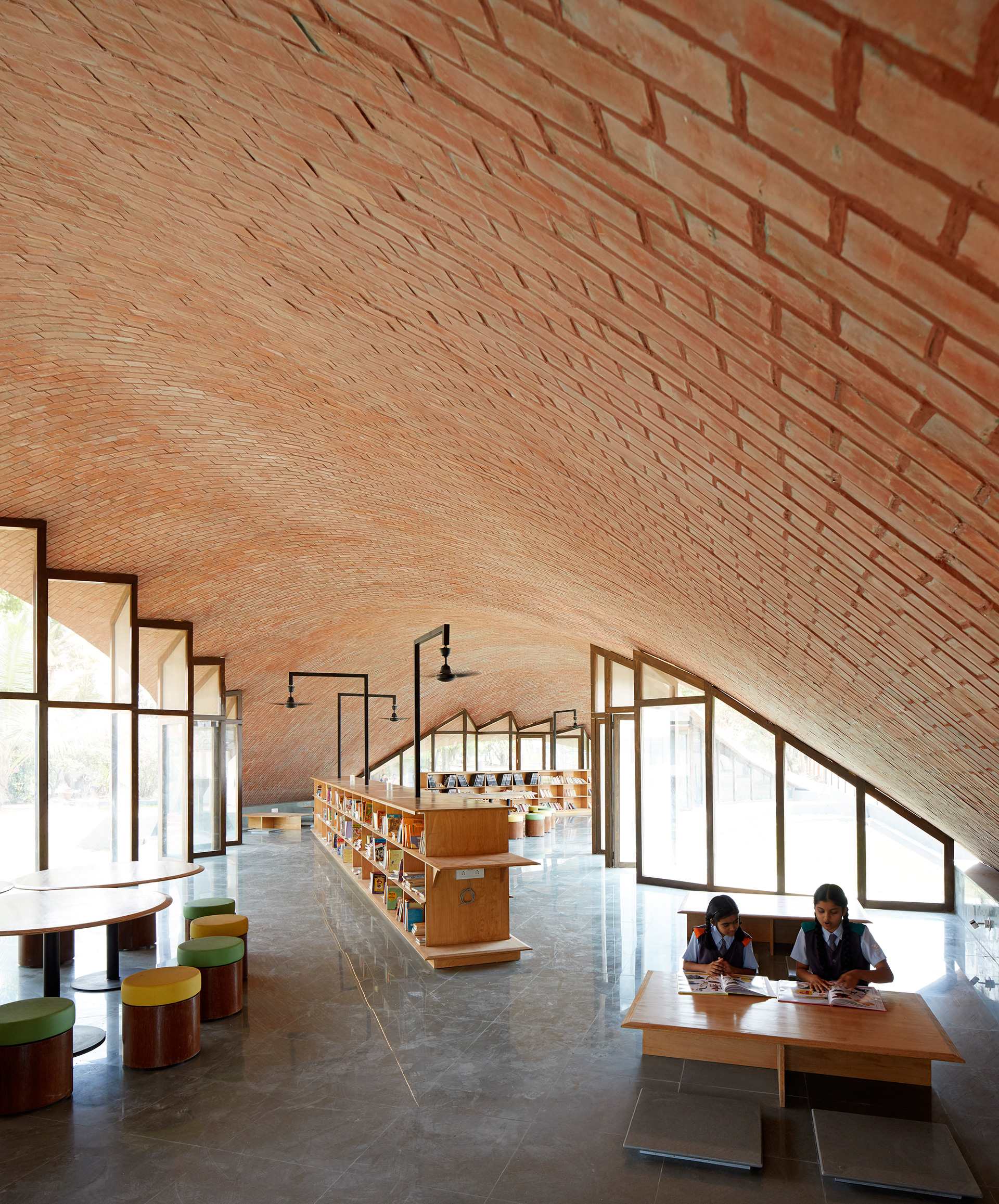 Corners form intimate reading spaces | Maya Somaiya Library | sP+a | STIRworld