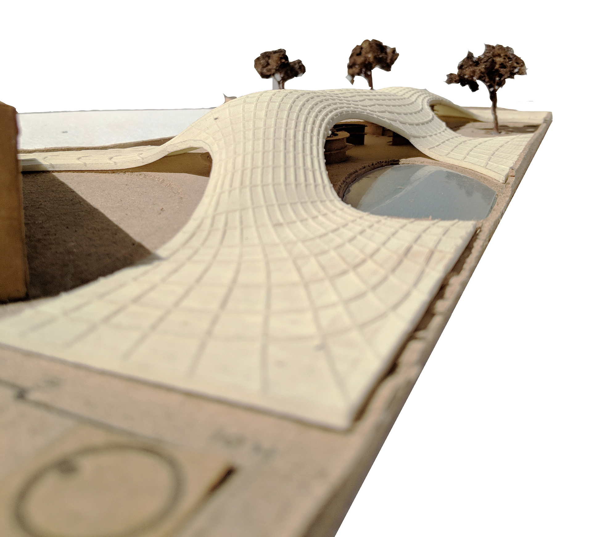 Study model showing how the roof meets the ground plane| Maya Somaiya Library | sP+a | STIRworld