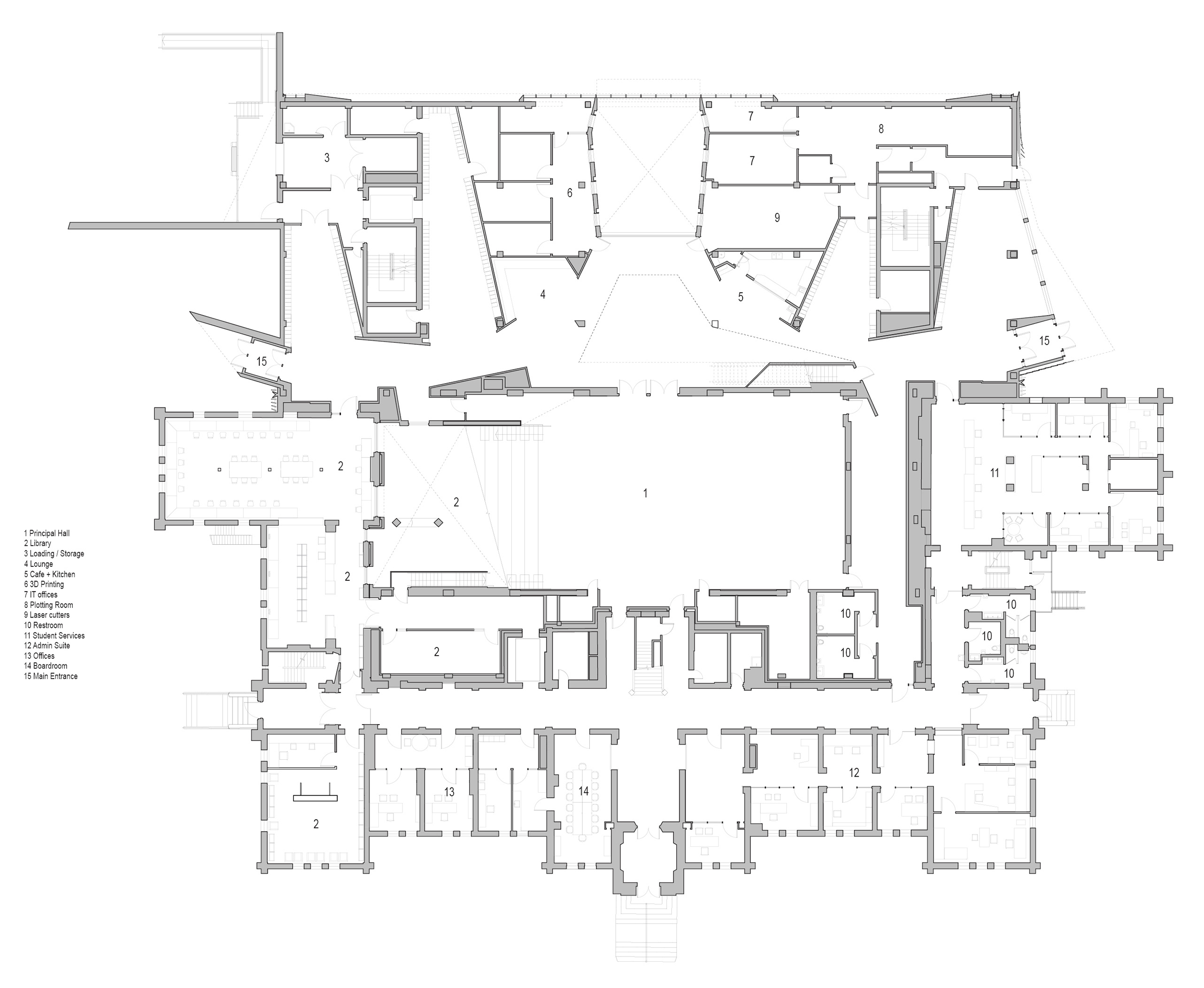 Plan- Level 1 | Daniels Faculty of Architecture | NADAAA architects | Canada |STIRworld