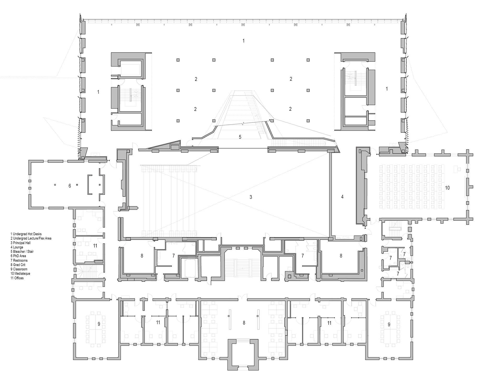 Plan - Level 2 | Daniels Faculty of Architecture | NADAAA architects | Canada | STIRworld