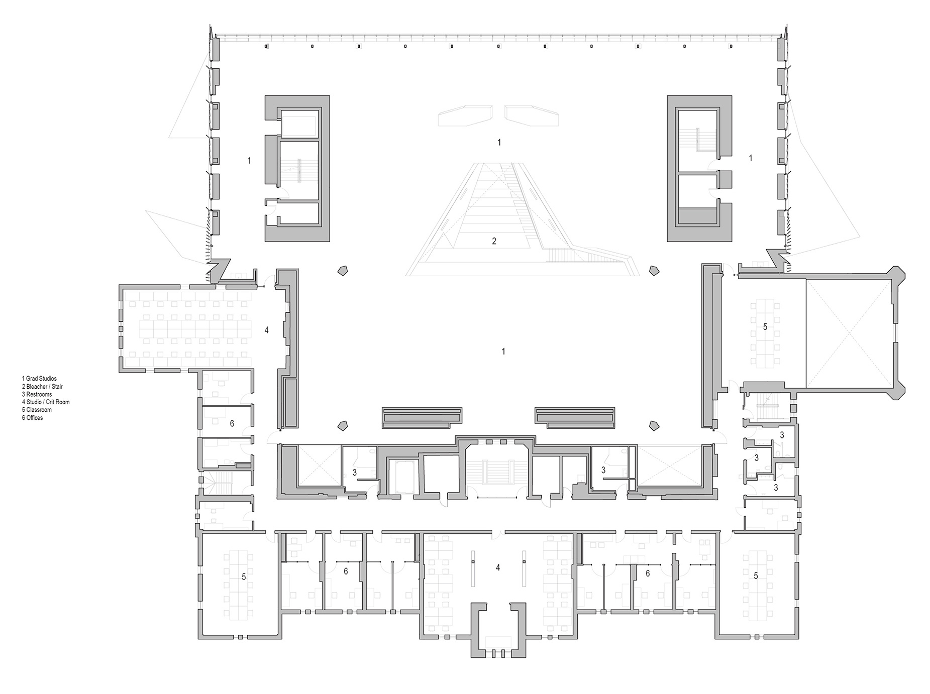 Plan - Level 3 | Daniels Faculty of Architecture | NADAAA architects | Canada | STIRworld