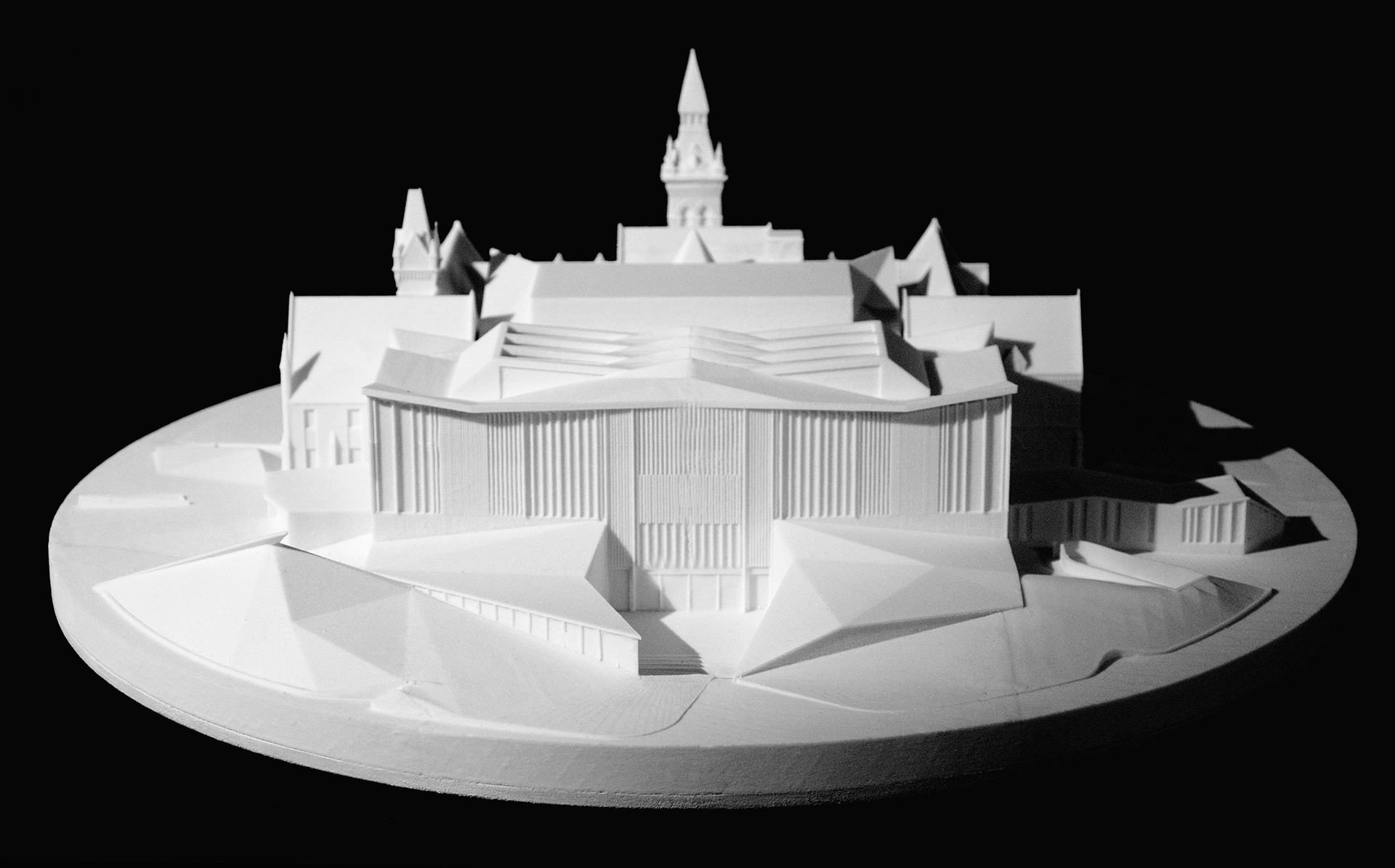 A model shows the consideration of the heritage structure with respect to the new building | Daniels Faculty of Architecture | NADAAA architects | Canada |STIRworld