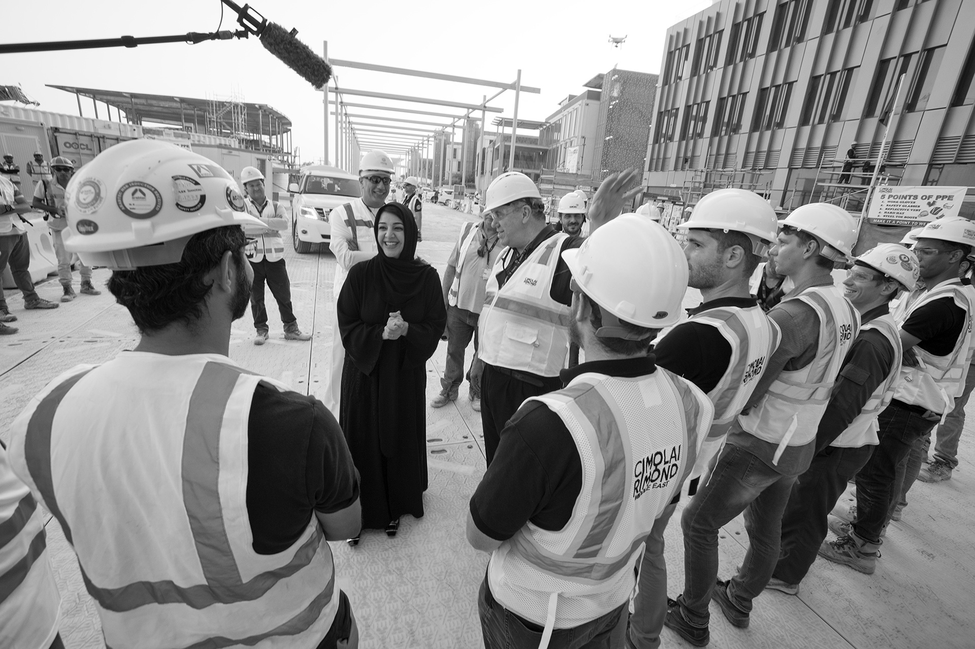 Her Excellency Reem Al Hashimy, Director General of Expo 2020 Dubai, with the team | Al Wasl Dome|Expo 2020| Dubai| STIRworld