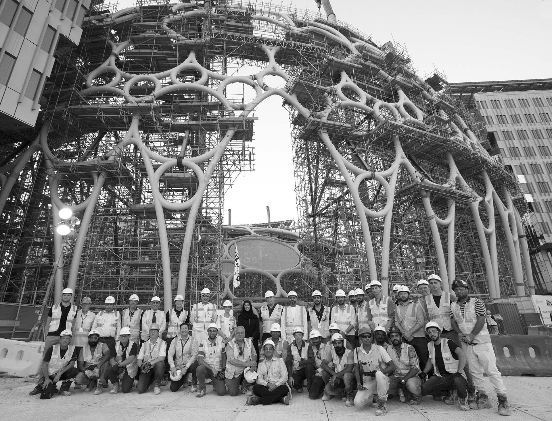 The team responsible for the construction of the Al Wasl dome | Al Wasl Dome|Expo 2020| Dubai| STIRworld